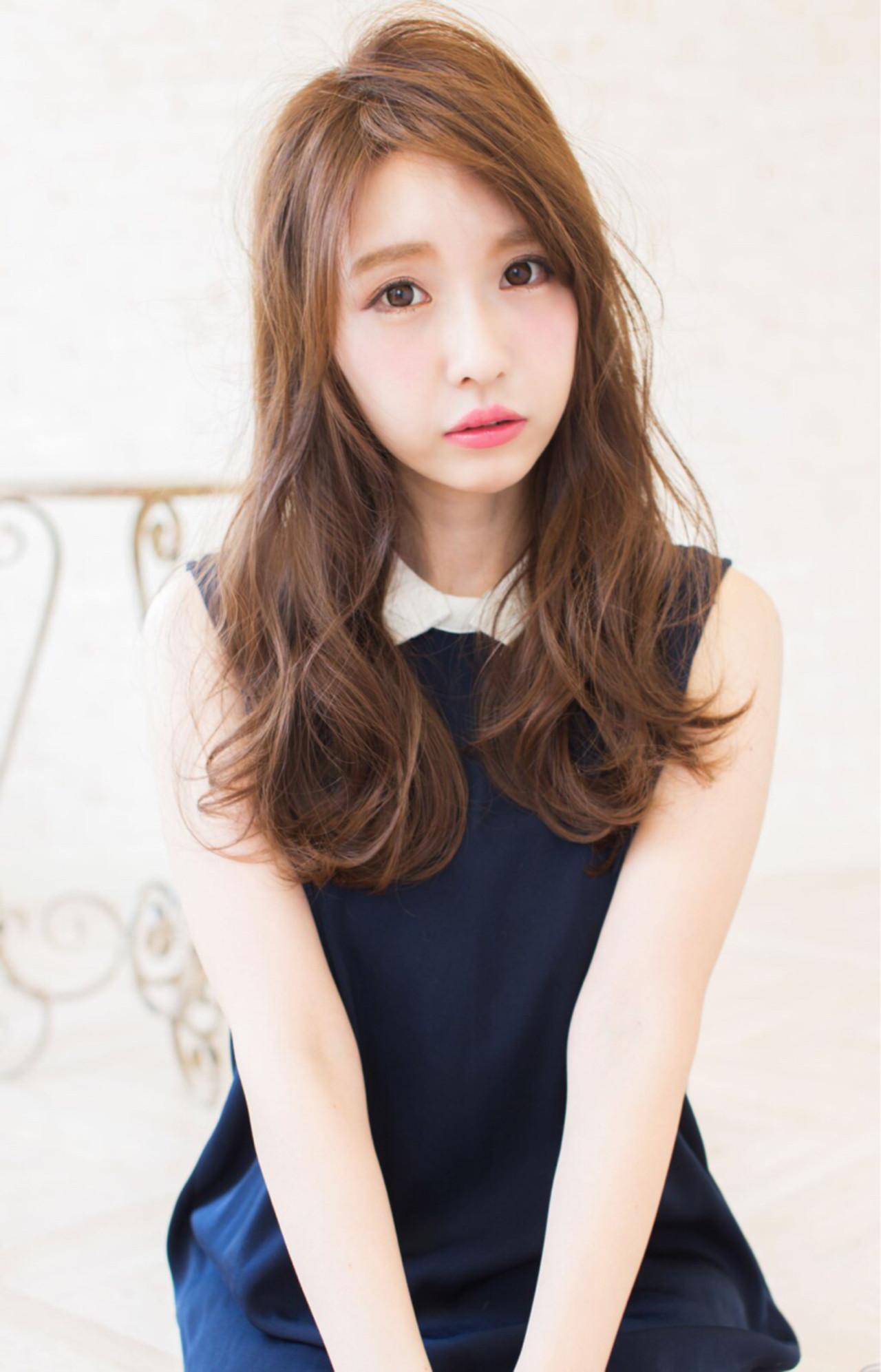 外国人風 ブラウン アッシュ 大人かわいいヘアスタイルや髪型の写真・画像