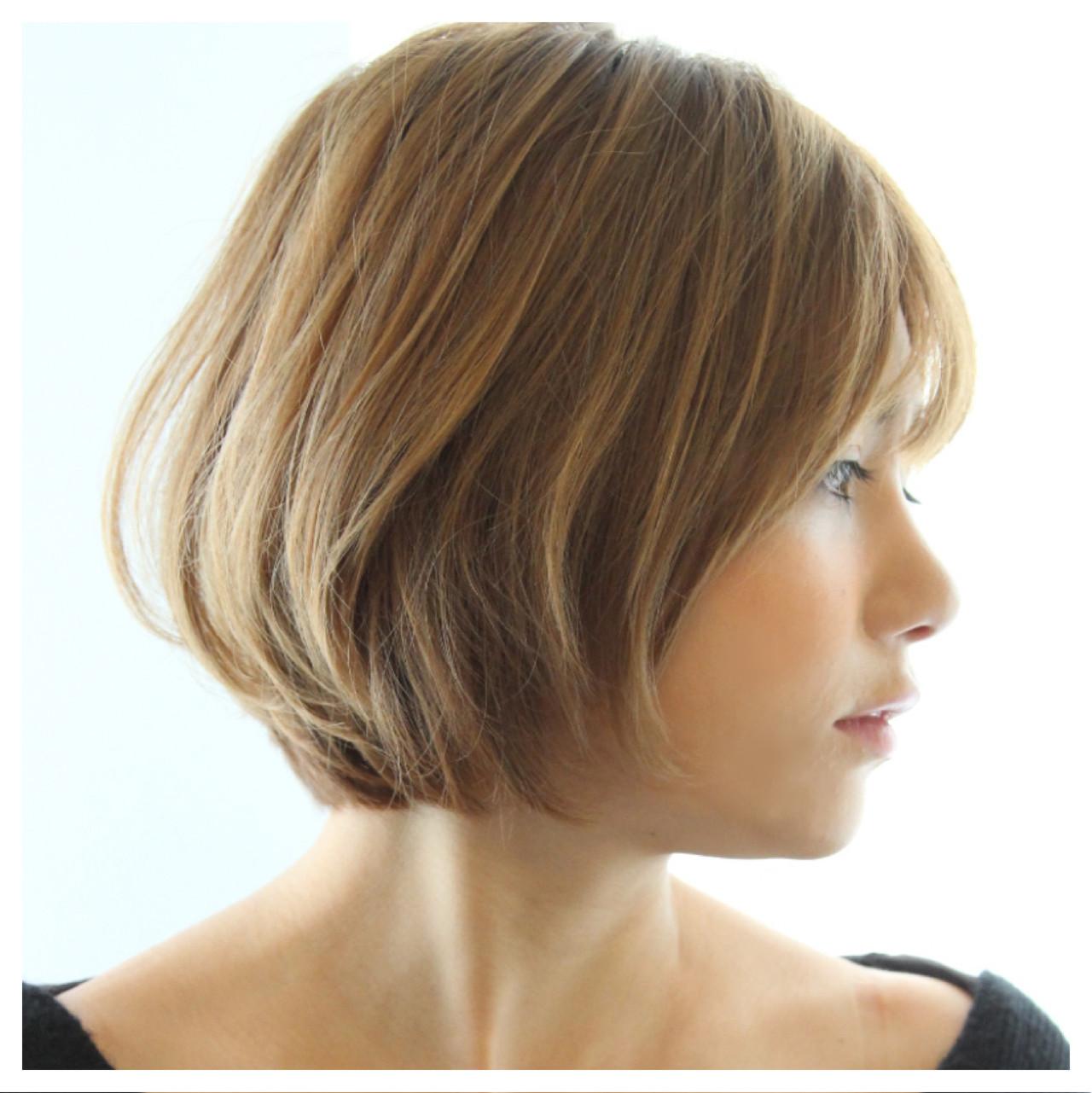 大人女子 ボブ 色気 こなれ感 ヘアスタイルや髪型の写真・画像 | Masanori Yamasaki / Reuna(レウナ)