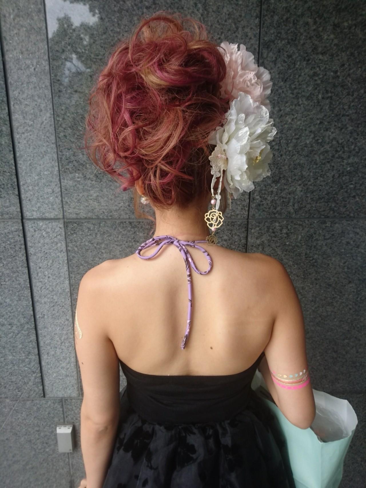 エレガント パーティ セミロング 外国人風 ヘアスタイルや髪型の写真・画像 | 島田 和也 / total beauty house flap MICHI