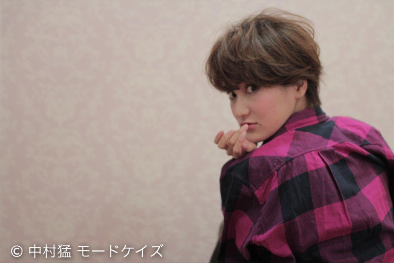 外国人風カラー ボブ ショート グラデーションカラーヘアスタイルや髪型の写真・画像