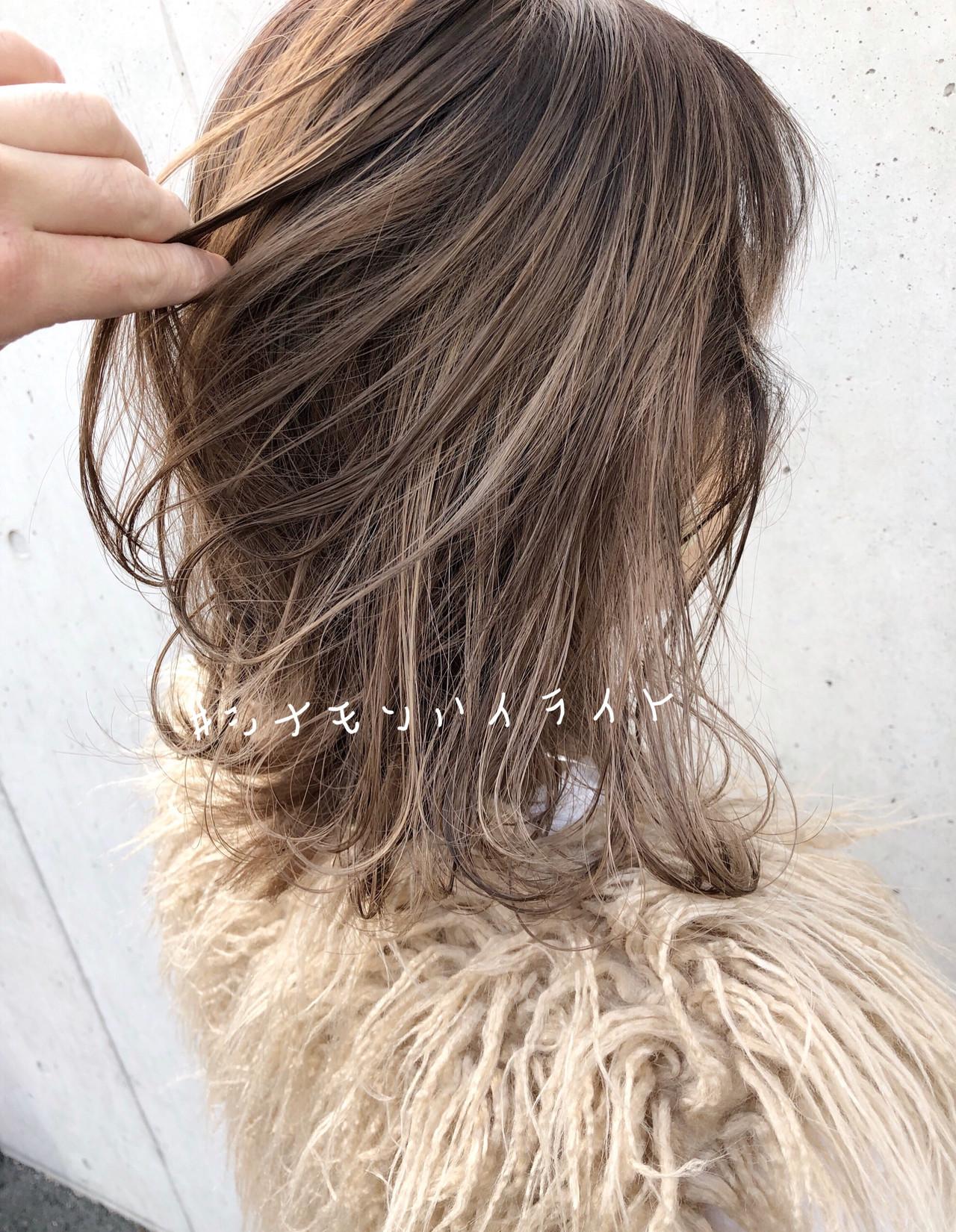 インナーカラー セミロング ヘアアレンジ デート ヘアスタイルや髪型の写真・画像 | 北村 亮 / Lano by HAIR