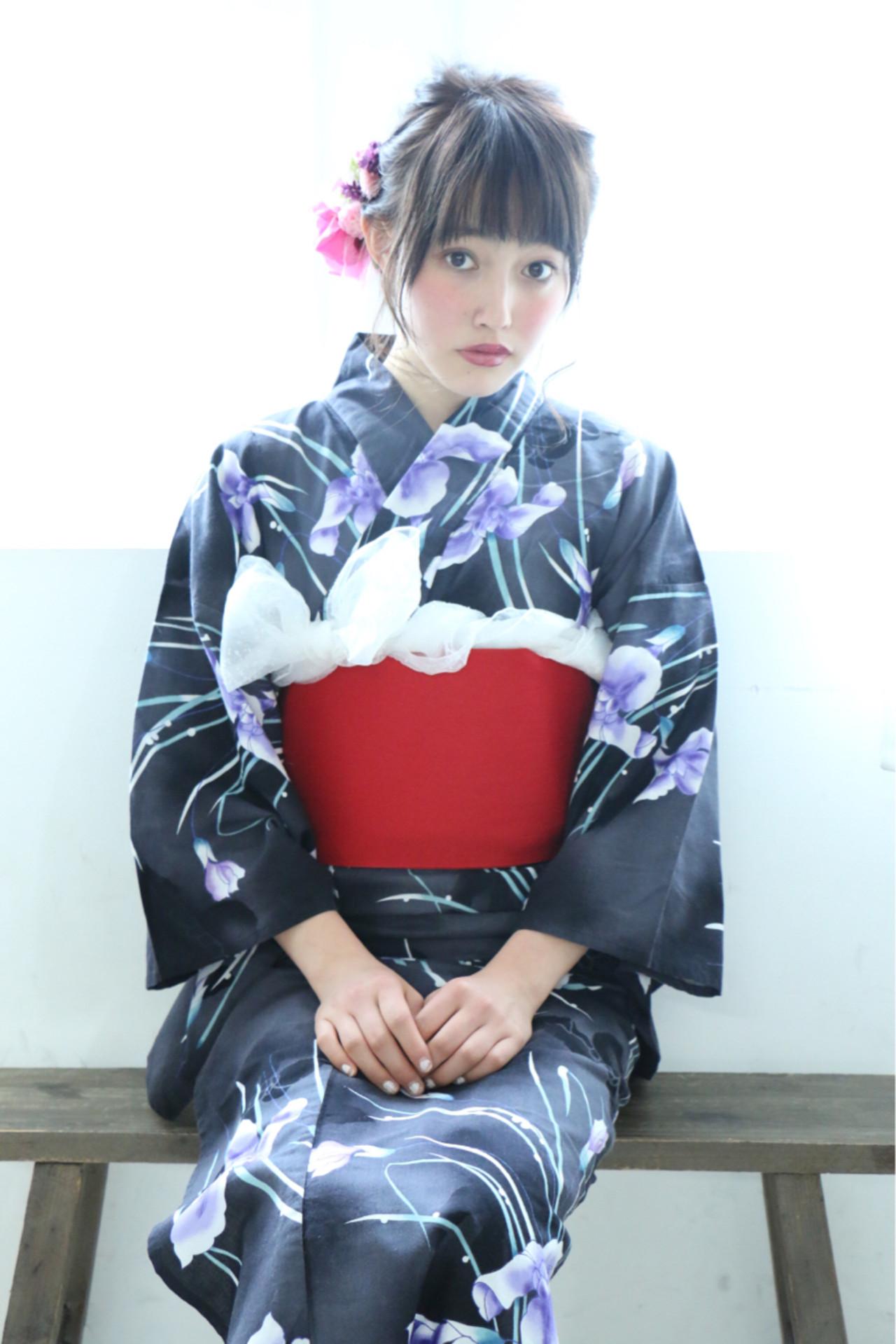 ナチュラル 簡単ヘアアレンジ ショート 和装 ヘアスタイルや髪型の写真・画像 | CHIHO / old✂︎