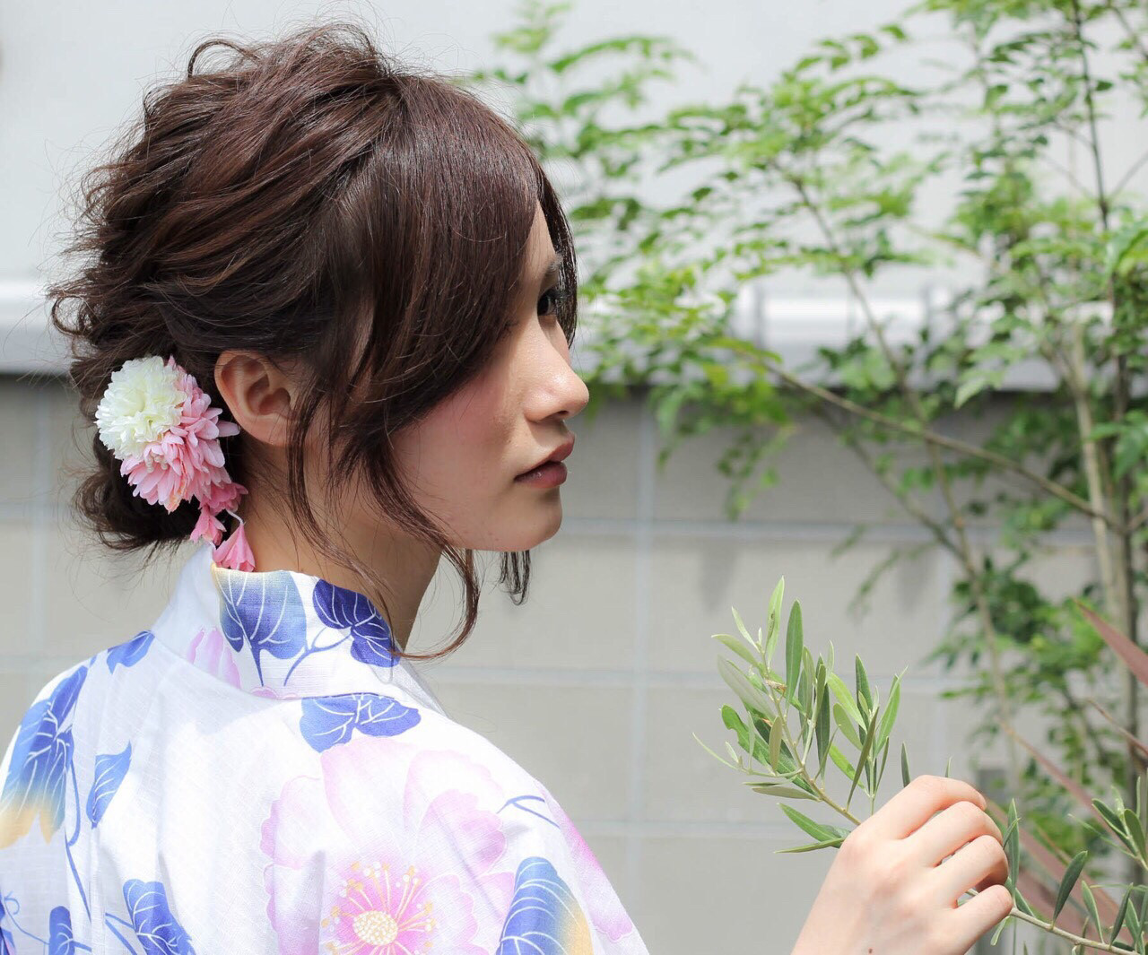 和装 夏 ナチュラル 涼しげヘアスタイルや髪型の写真・画像