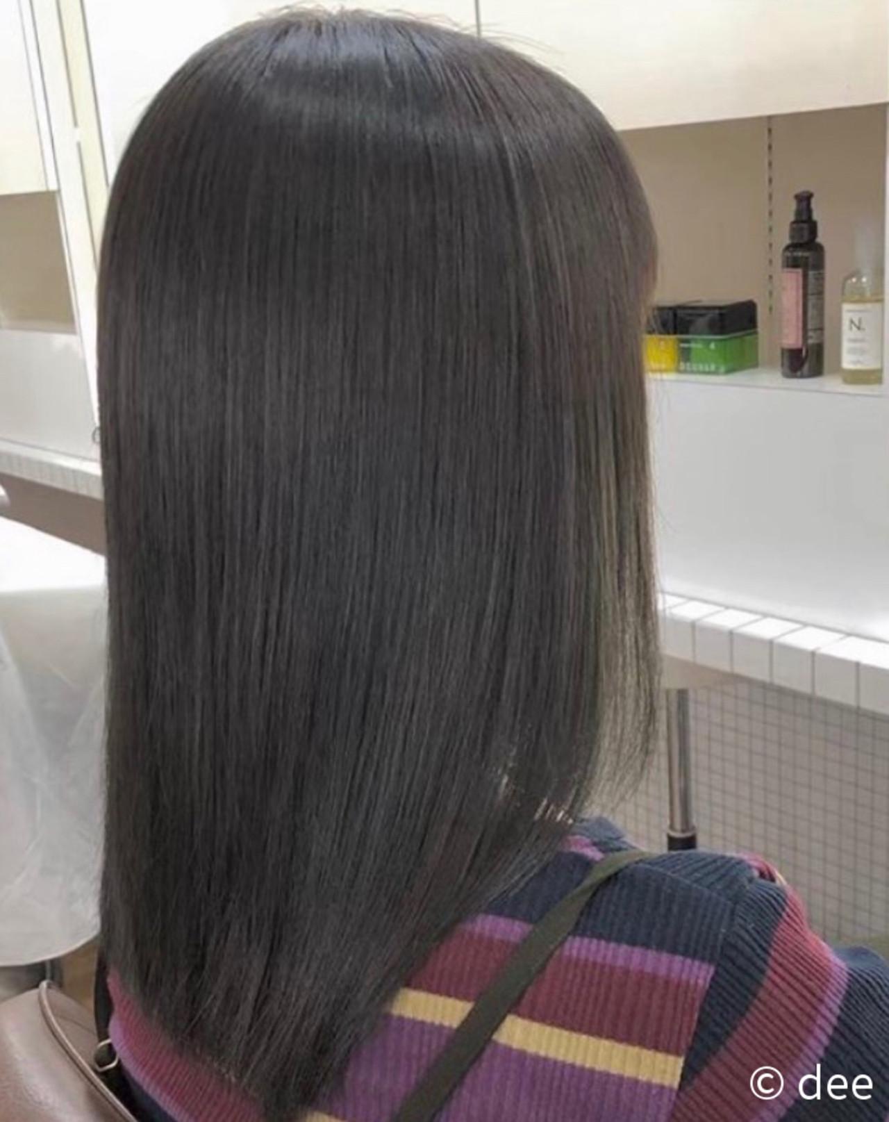 ナチュラル 縮毛矯正 縮毛矯正ストカール ストレートヘアスタイルや髪型の写真・画像