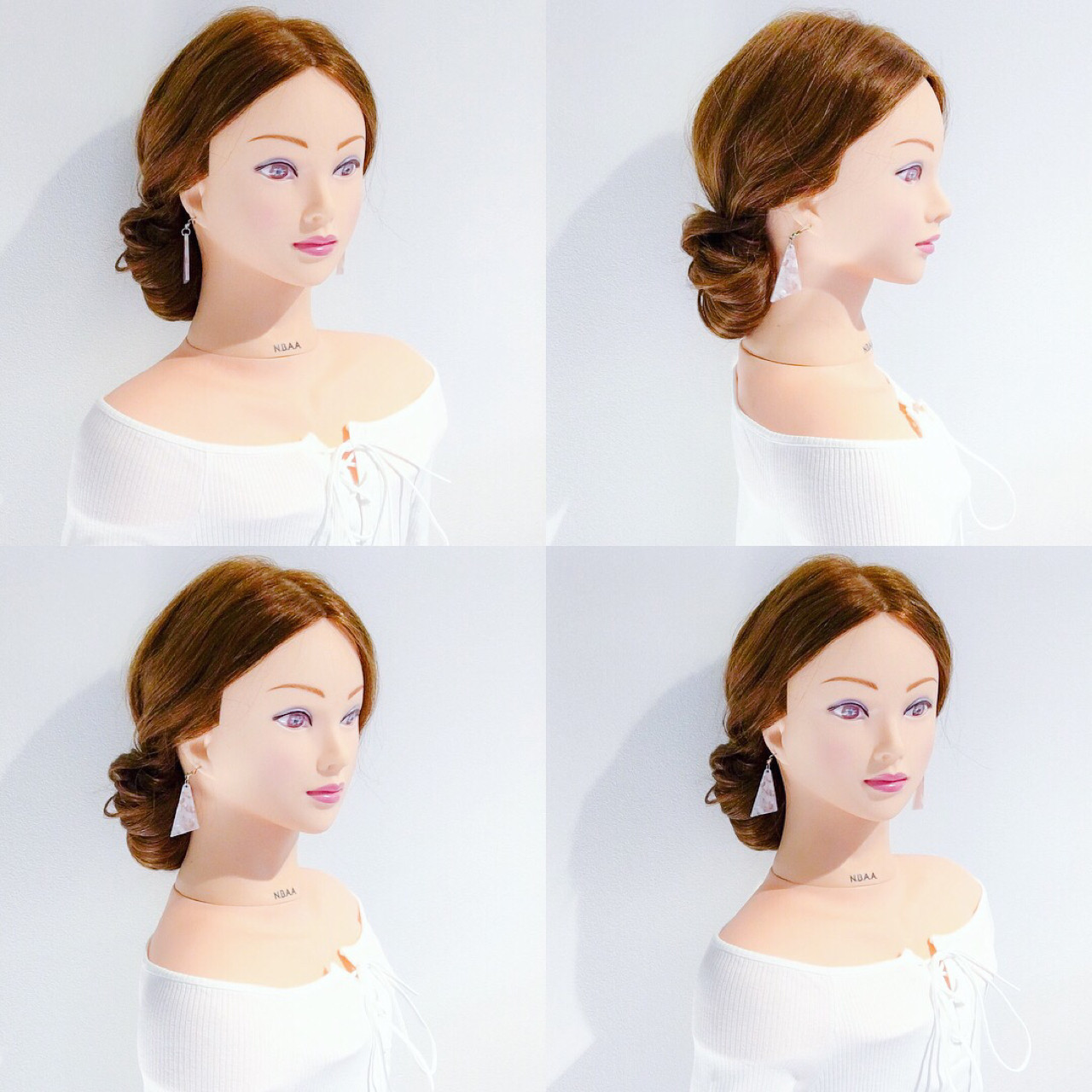 ヘアアレンジ 簡単ヘアアレンジ デート オフィスヘアスタイルや髪型の写真・画像