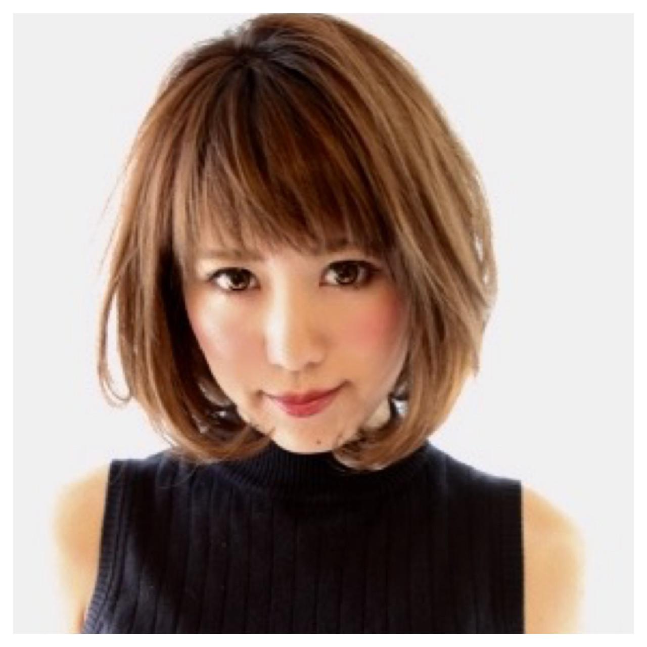 ニュアンス 前髪あり ボブ アッシュ ヘアスタイルや髪型の写真・画像 | Masanori Yamasaki / Reuna(レウナ)