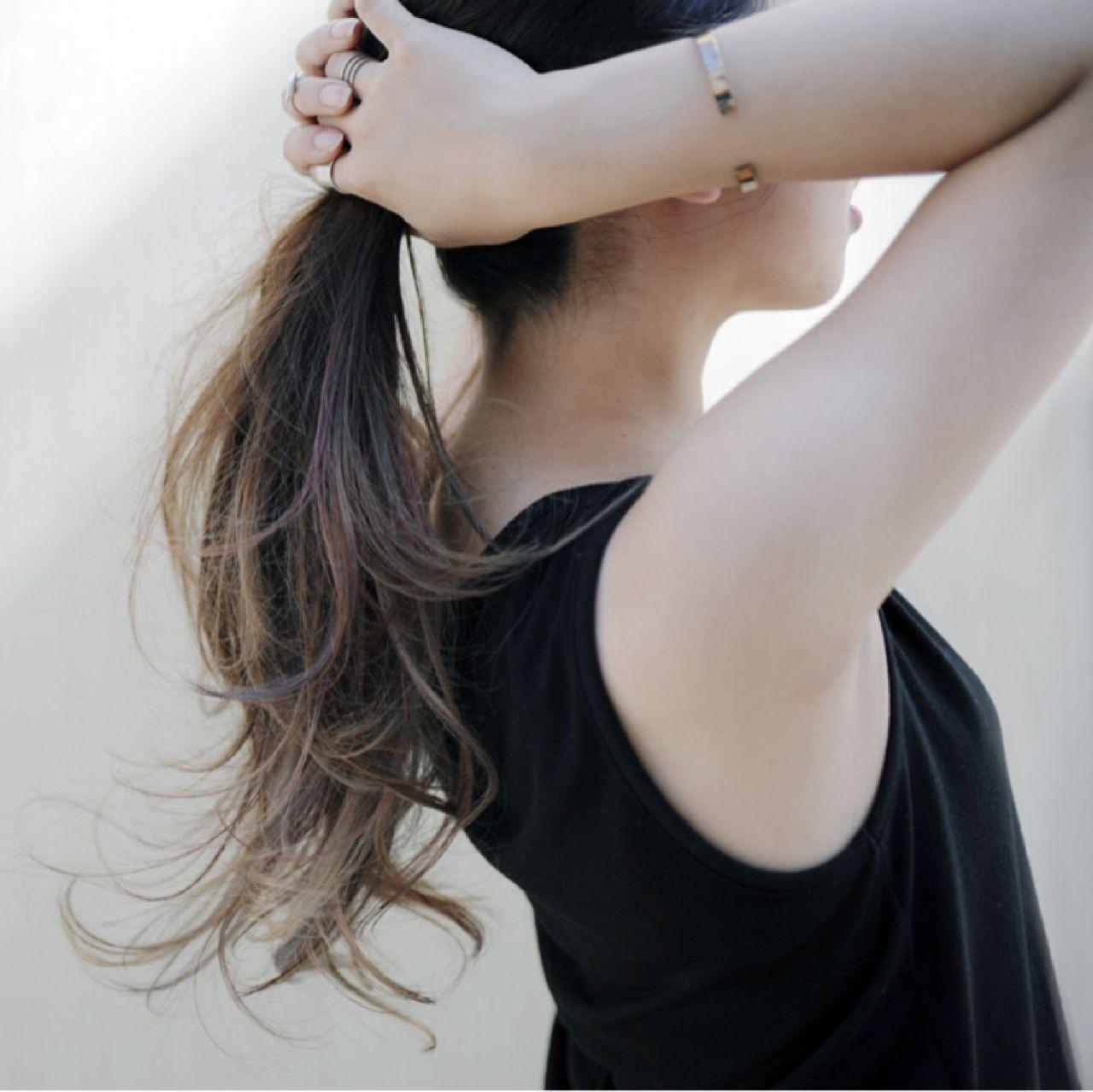 大注目の暗髪×グラデーションまとめ♡ポイントは毛先とハイライト 細井 豊 HEAVENS