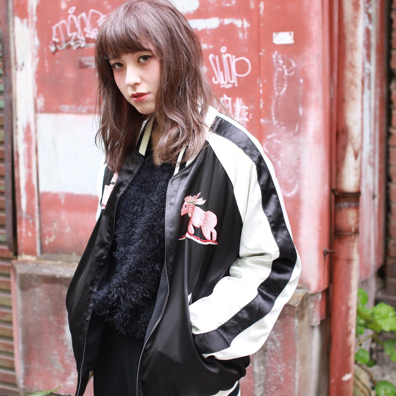 ハイライト セミロング ダブルカラー ナチュラル ヘアスタイルや髪型の写真・画像 | イマムラ スナオ / LUKE