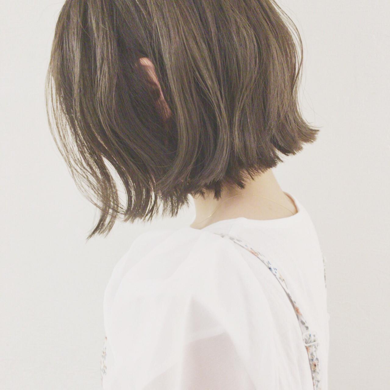 デート ショートボブ ボブ ウェーブ ヘアスタイルや髪型の写真・画像 | 津村正和/大阪心斎橋 / freelance