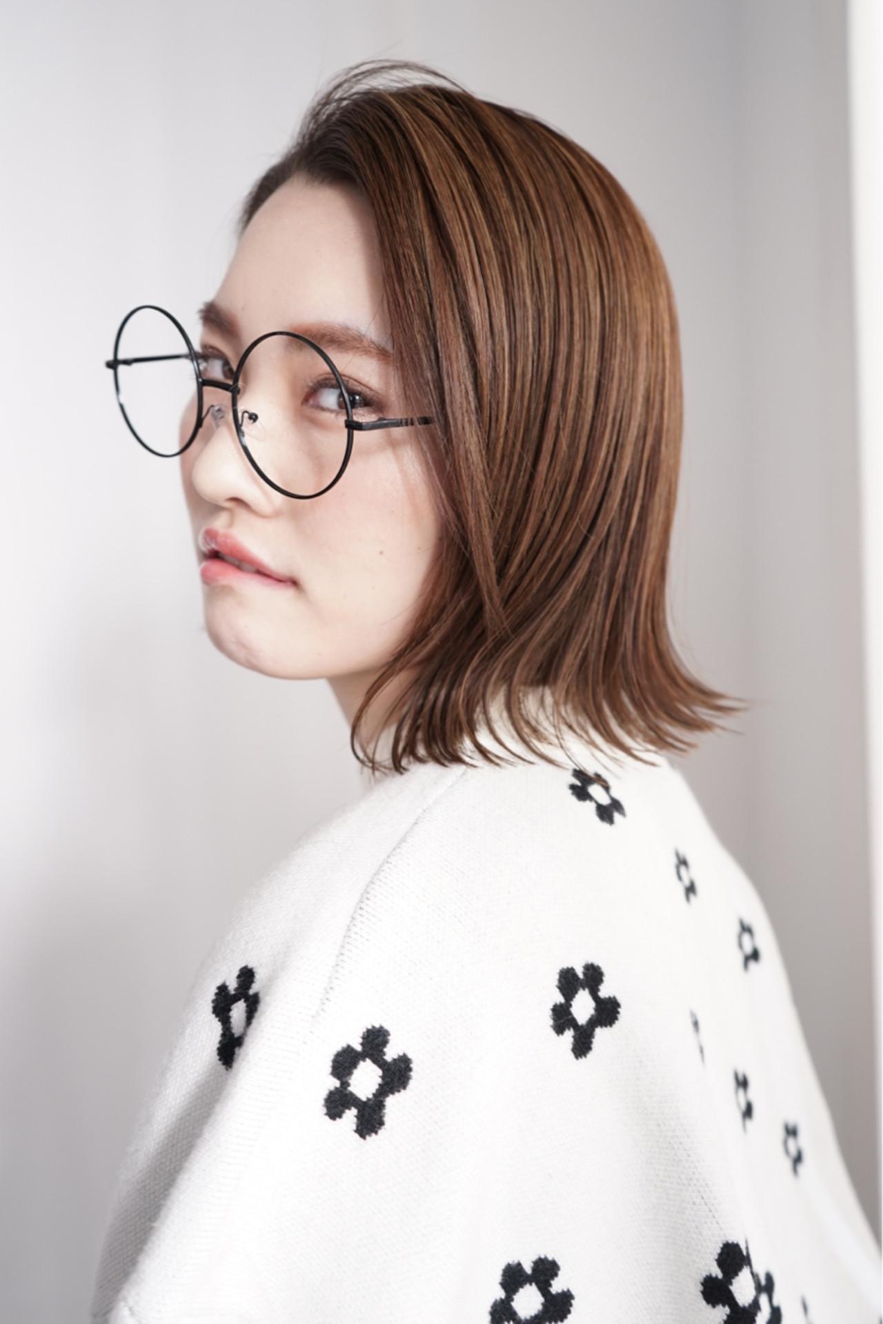 小顔 フェミニン 大人女子 ナチュラルヘアスタイルや髪型の写真・画像
