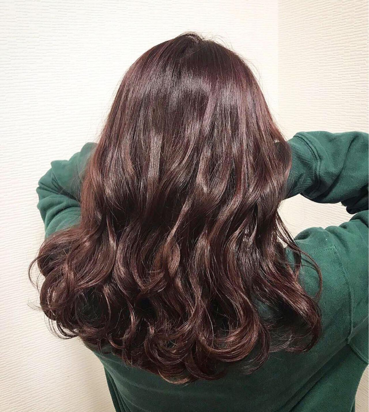 セミロング ゆるふわ デート こなれ感 ヘアスタイルや髪型の写真・画像 | Rina / HairxCafe KUMA