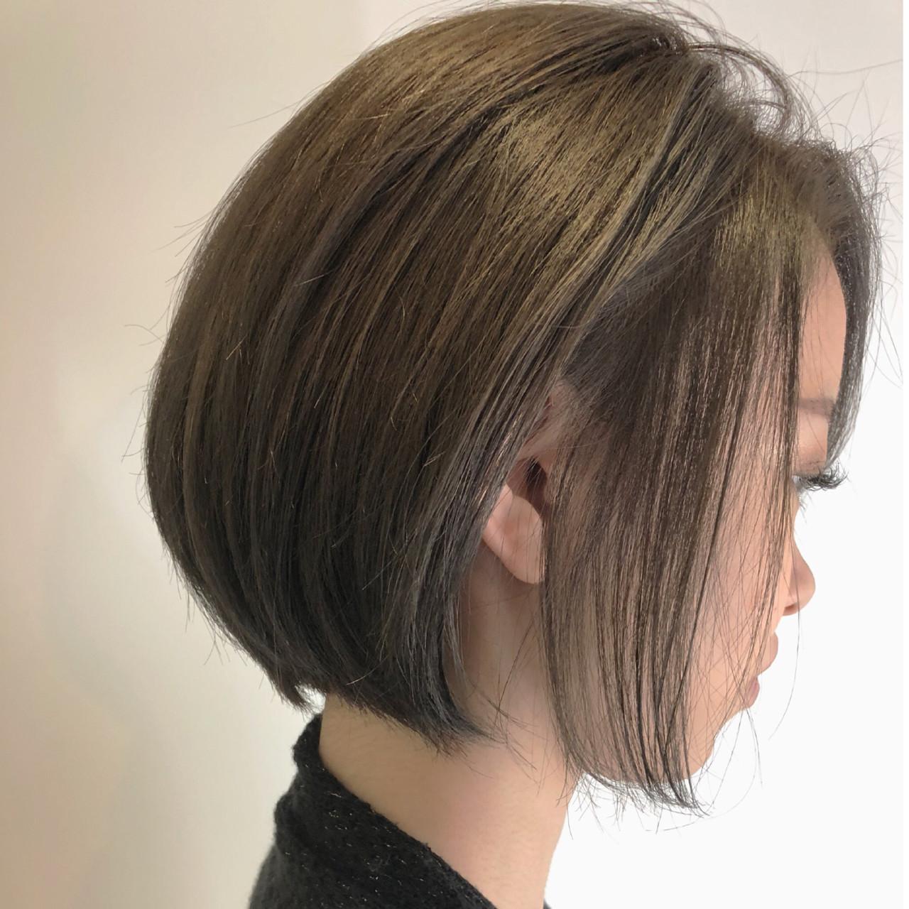 ショート 透明感 ショートボブ ナチュラルヘアスタイルや髪型の写真・画像