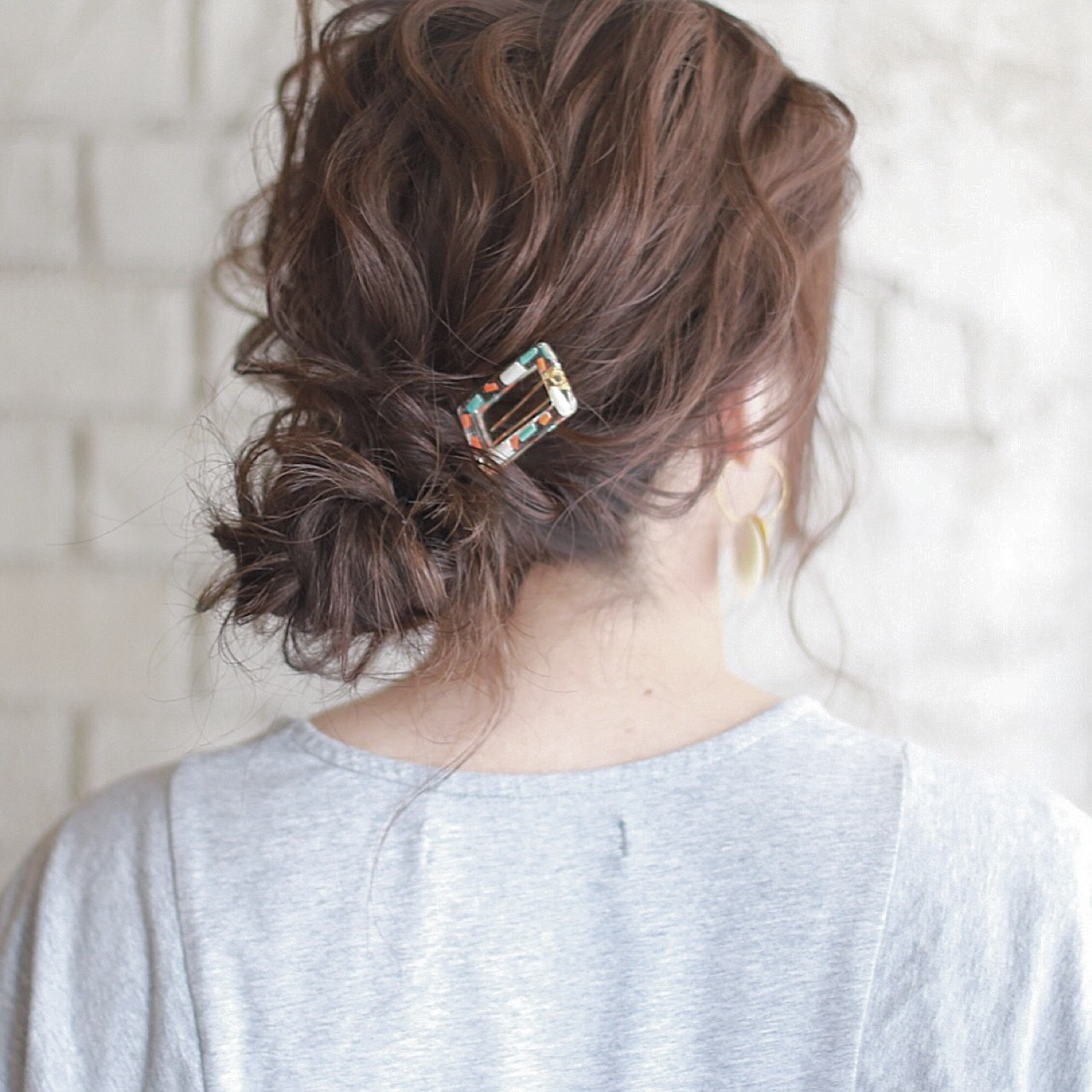 ショート ヘアアレンジ ミディアム 簡単ヘアアレンジ ヘアスタイルや髪型の写真・画像 | 廣田哲也 / nalu hair