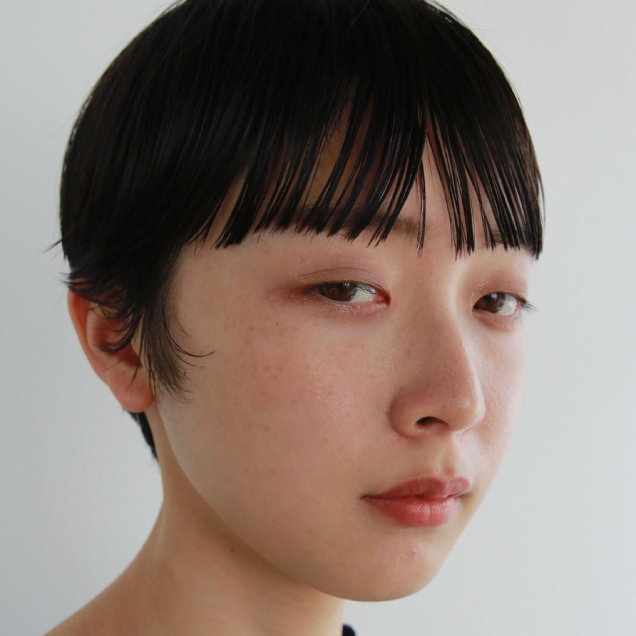 ストレート 抜け感 マッシュ ショート ヘアスタイルや髪型の写真・画像 | 高橋 忍 / nanuk渋谷店(ナヌーク)