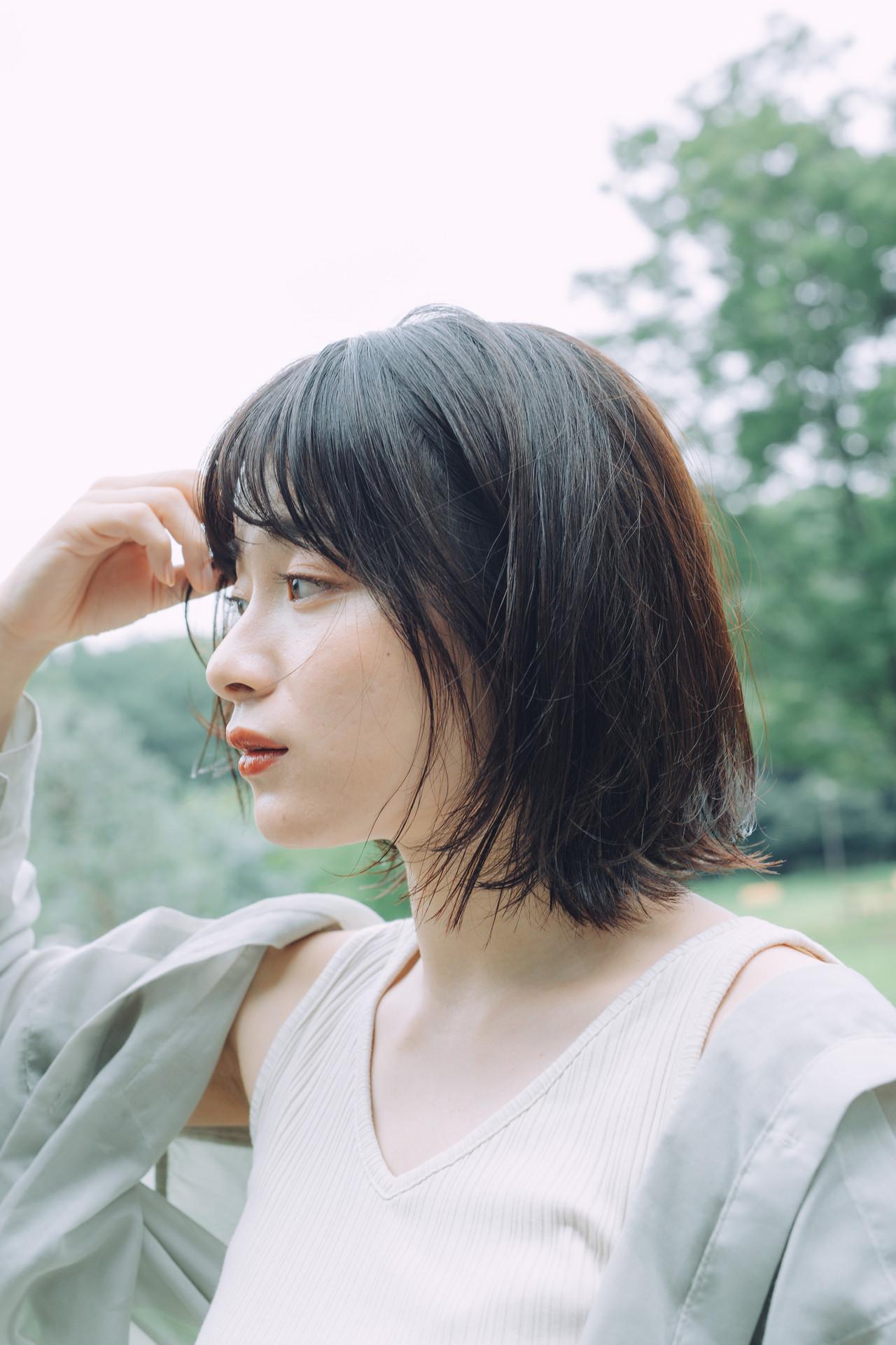 ボブ ミニボブ モテボブ ヘアスタイルや髪型の写真・画像 | 児玉善央 / GARDEN harajuku