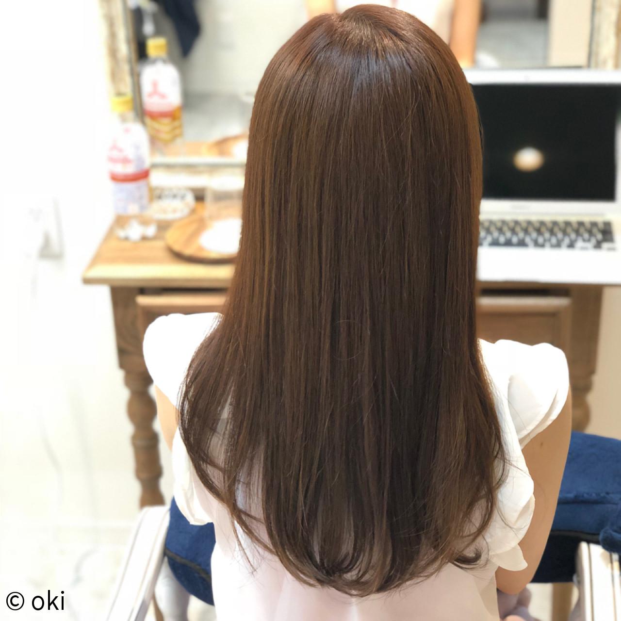 デート フェミニン ロング 艶髪ヘアスタイルや髪型の写真・画像