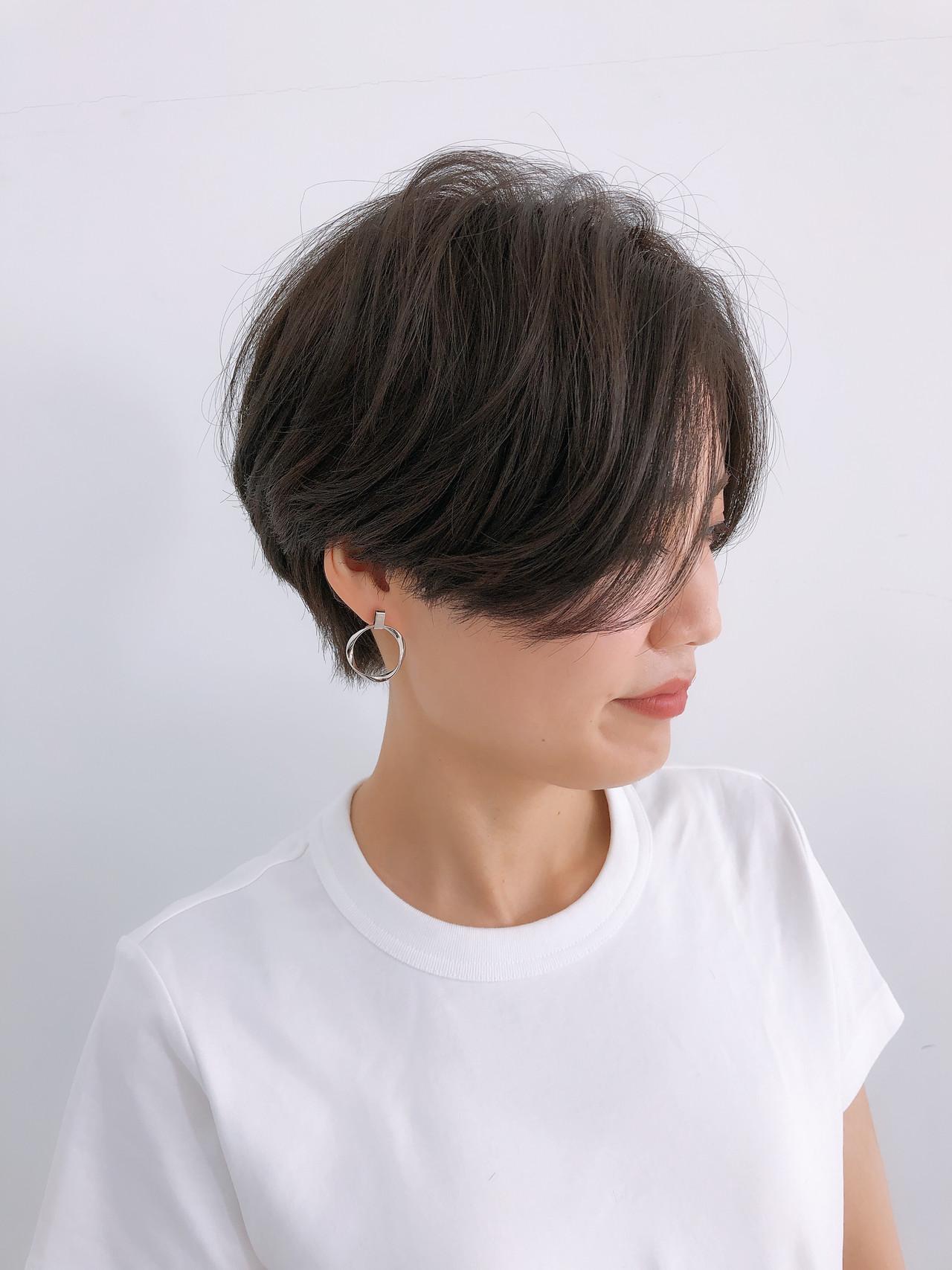 ショート ショートヘア ショートボブ ナチュラル ヘアスタイルや髪型の写真・画像 | ハンサムショート ボブ 今泉孝記 / GRAFF hair 銀座