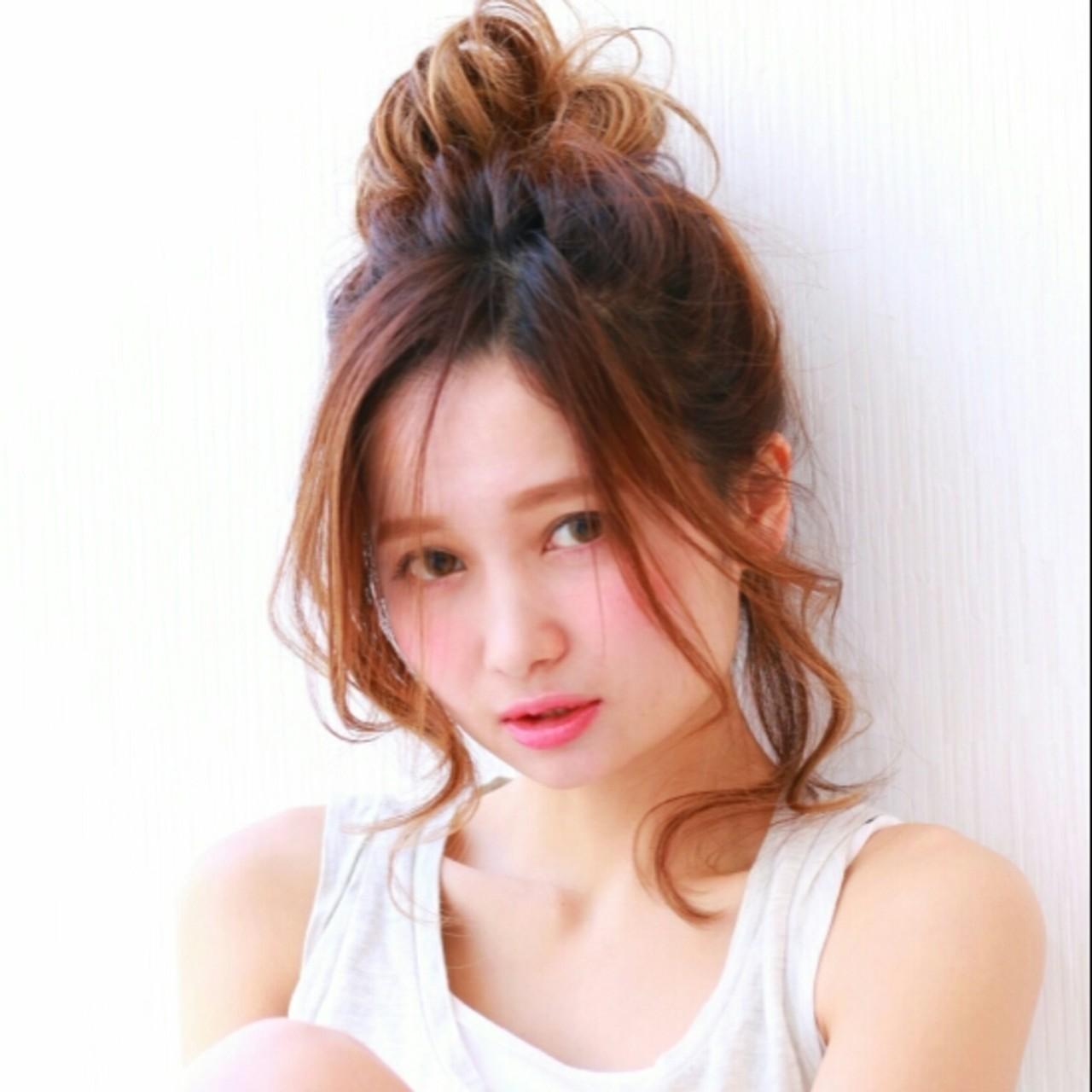 ショート お団子 ミディアム 大人かわいい ヘアスタイルや髪型の写真・画像 | 前田えみ/BLOOM /  BLOOM(ブルーム)