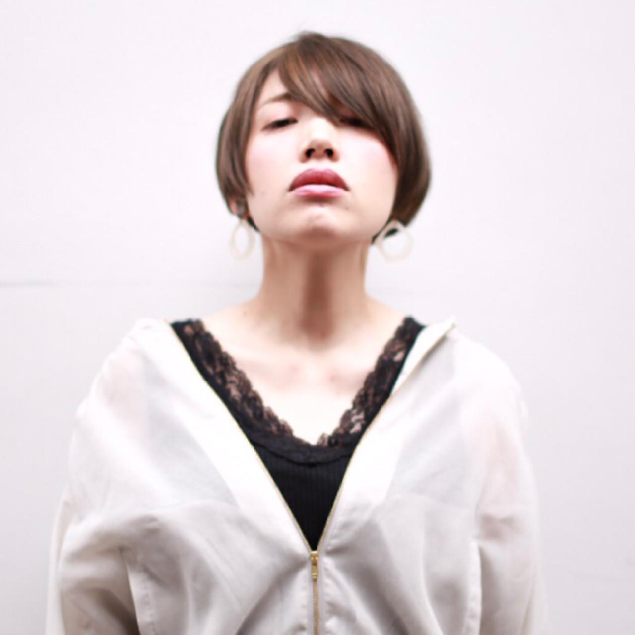 似合わせ モード 大人女子 うざバング ヘアスタイルや髪型の写真・画像 | yuunn /