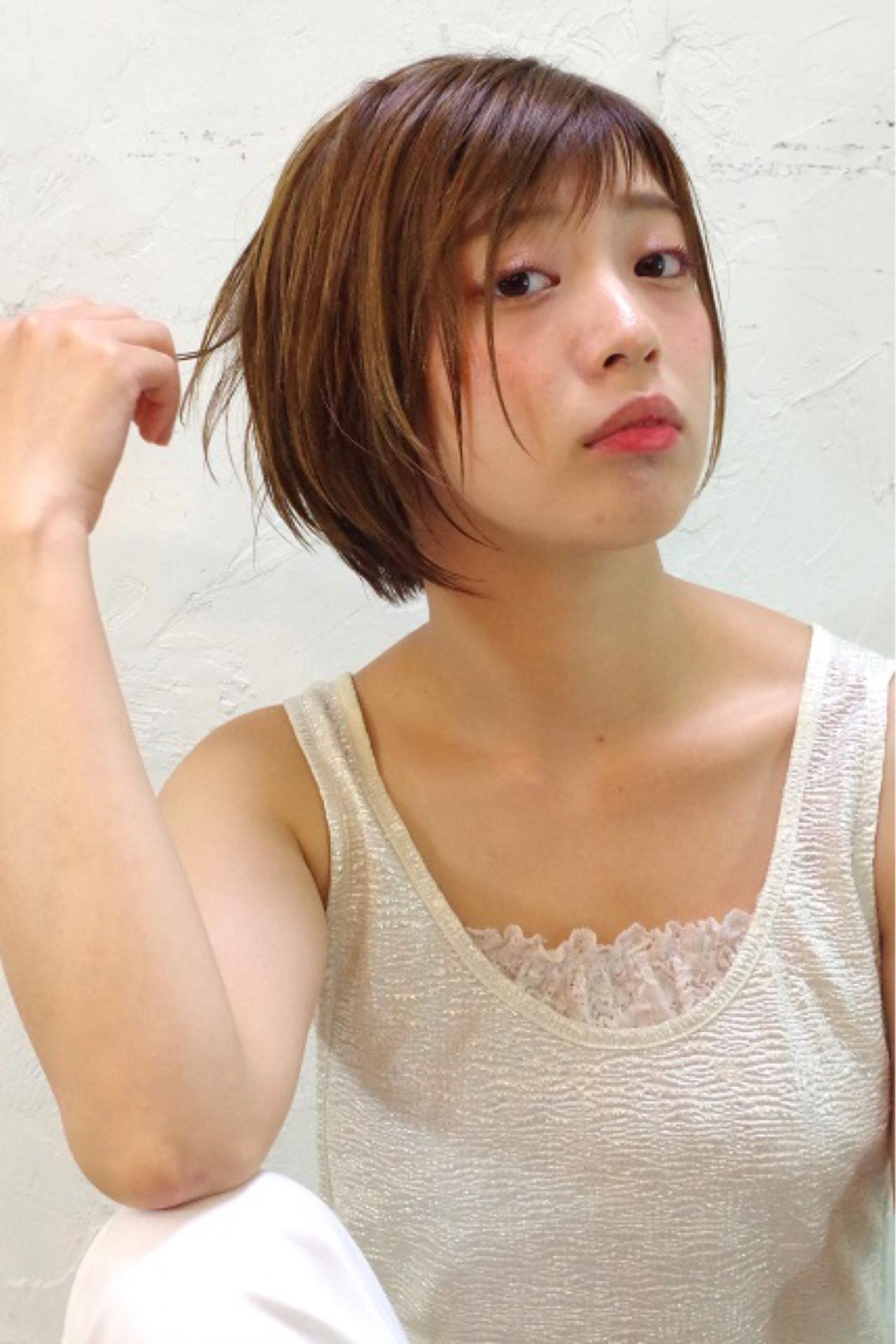 ショート ピュア ウェットヘア ワイドバング ヘアスタイルや髪型の写真・画像 | Nao Kokubun blast / blast