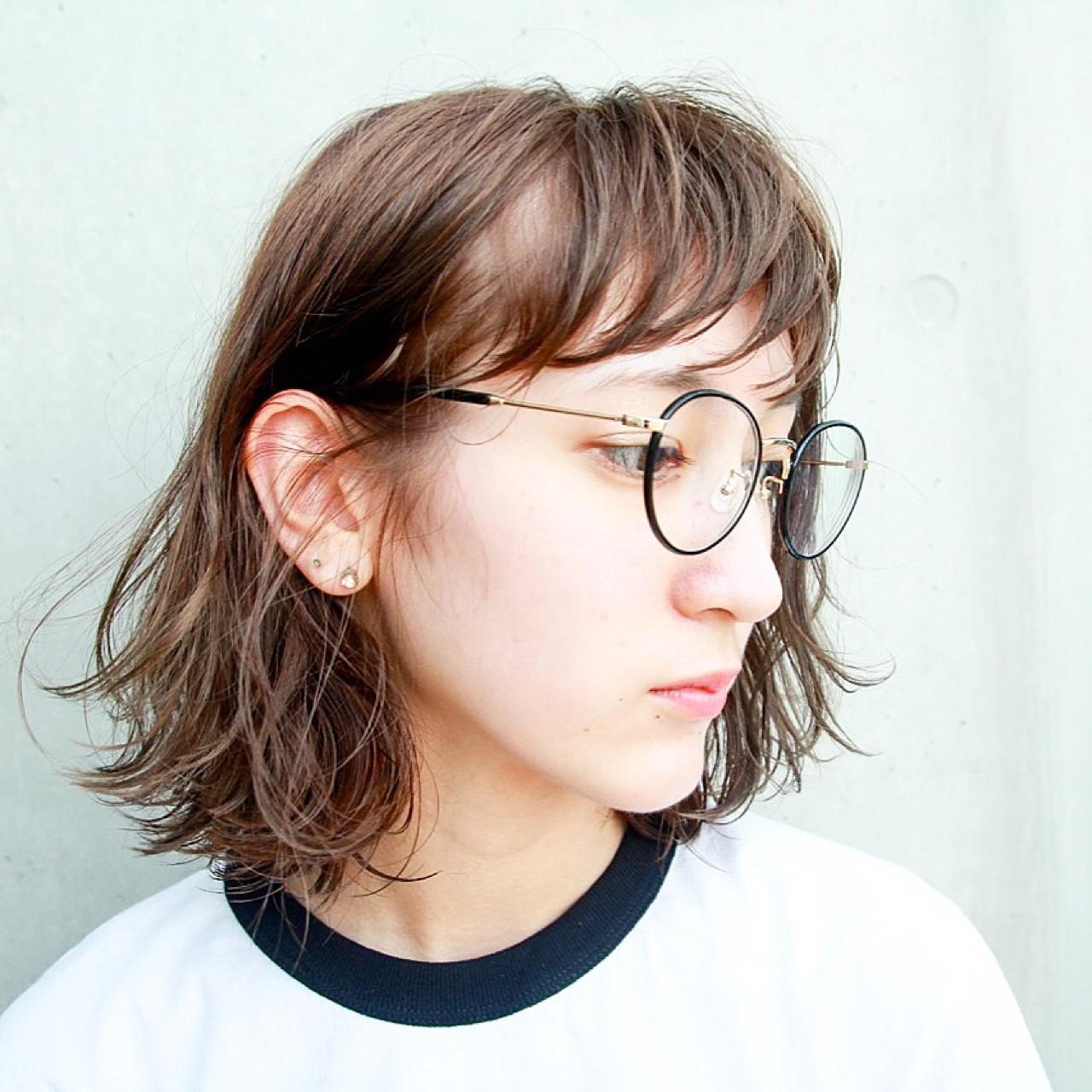 ロブ ボブ 外国人風 透明感 ヘアスタイルや髪型の写真・画像   川島 ゆり / ROGUE