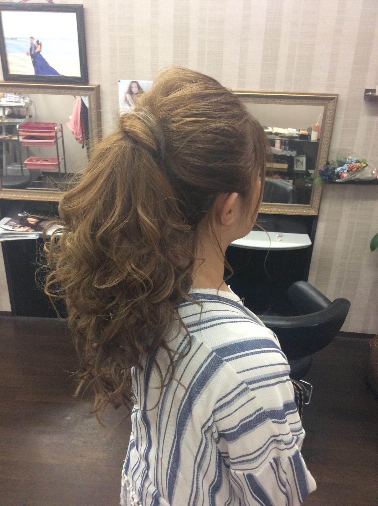 結婚式 簡単ヘアアレンジ ヘアアレンジ ロング ヘアスタイルや髪型の写真・画像   rumiLINKS美容室 / リンクス美容室