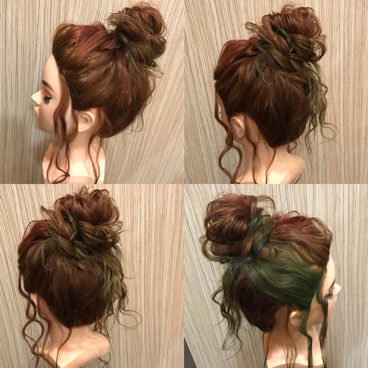 簡単ヘアアレンジ ヘアアレンジ デート セミロング ヘアスタイルや髪型の写真・画像 | 石井 美那 / BERAg hair