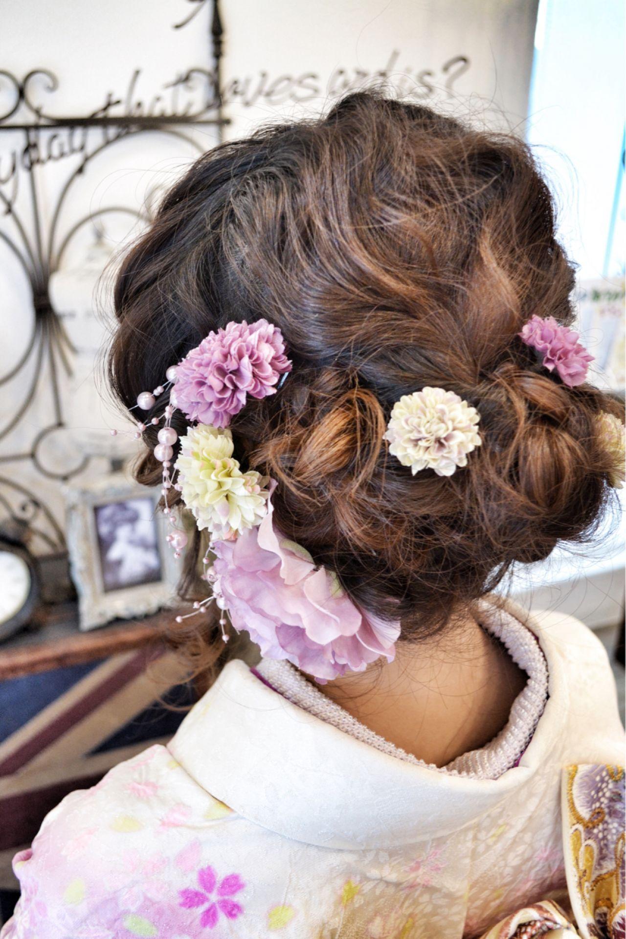 ナチュラル アップスタイル 着物 ヘアアレンジ ヘアスタイルや髪型の写真・画像   Tanaka Hikaru/jilljanne / jilljanne 《ジル・ジェニー》