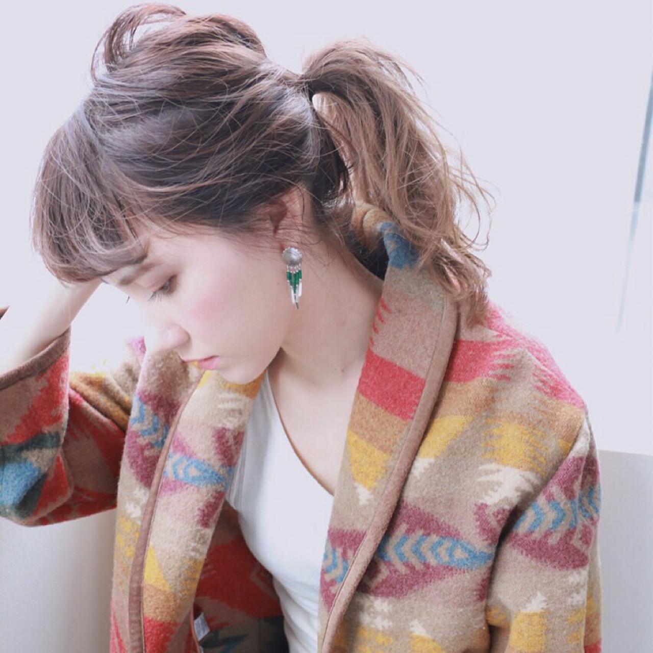 ミディアム 簡単ヘアアレンジ 大人かわいい ヘアアレンジ ヘアスタイルや髪型の写真・画像 | 高橋 忍 / nanuk渋谷店(ナヌーク)