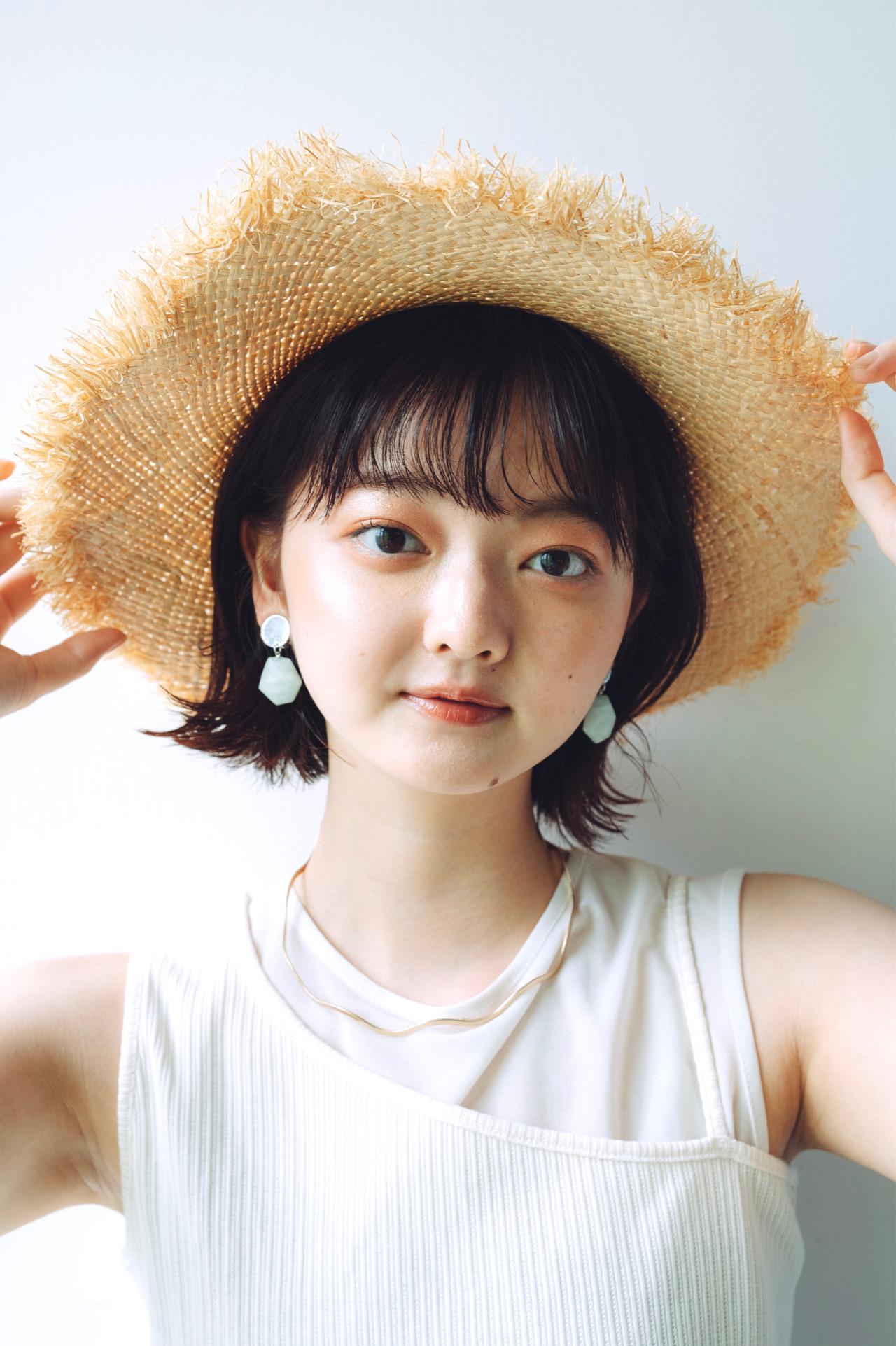 ミニボブ ナチュラル パーマ ヘアスタイルや髪型の写真・画像   児玉善央 / GARDEN harajuku
