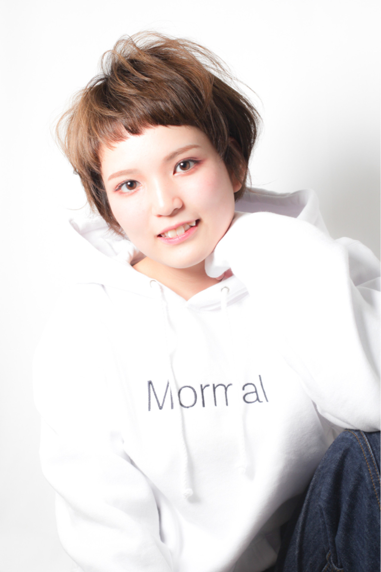 愛され 似合わせ アッシュ ショート ヘアスタイルや髪型の写真・画像 | 中西亮太 / LaLa Terrace 神戸三ノ宮