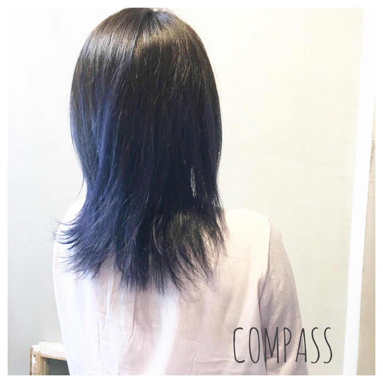 アンニュイ ストリート セミロング グラデーションカラー ヘアスタイルや髪型の写真・画像   COM PASS 太一 / COM PASS