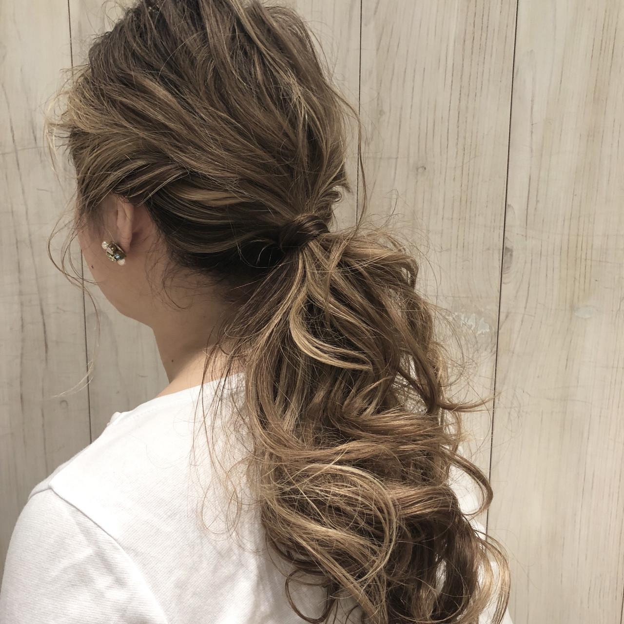 オフィス ナチュラル 簡単ヘアアレンジ デート ヘアスタイルや髪型の写真・画像 | 銀座美容師 河野絵奈 / kakimotoamsGINZA2chome店