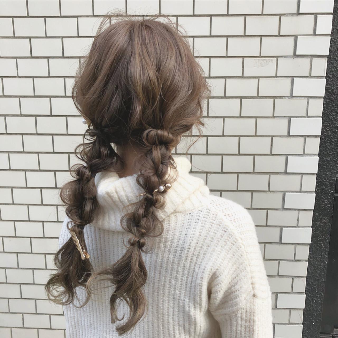 ヘアアレンジ ロング デート ツインテール ヘアスタイルや髪型の写真・画像 | hii.de@✂︎ / Maison de sisi