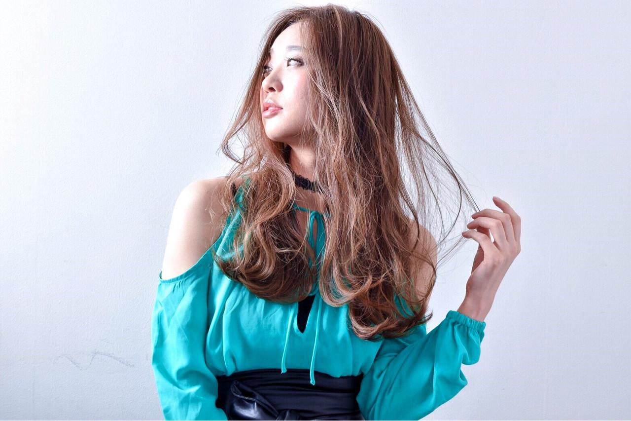 ロング 愛され かっこいい フェミニン ヘアスタイルや髪型の写真・画像 | 藤田真奈 /