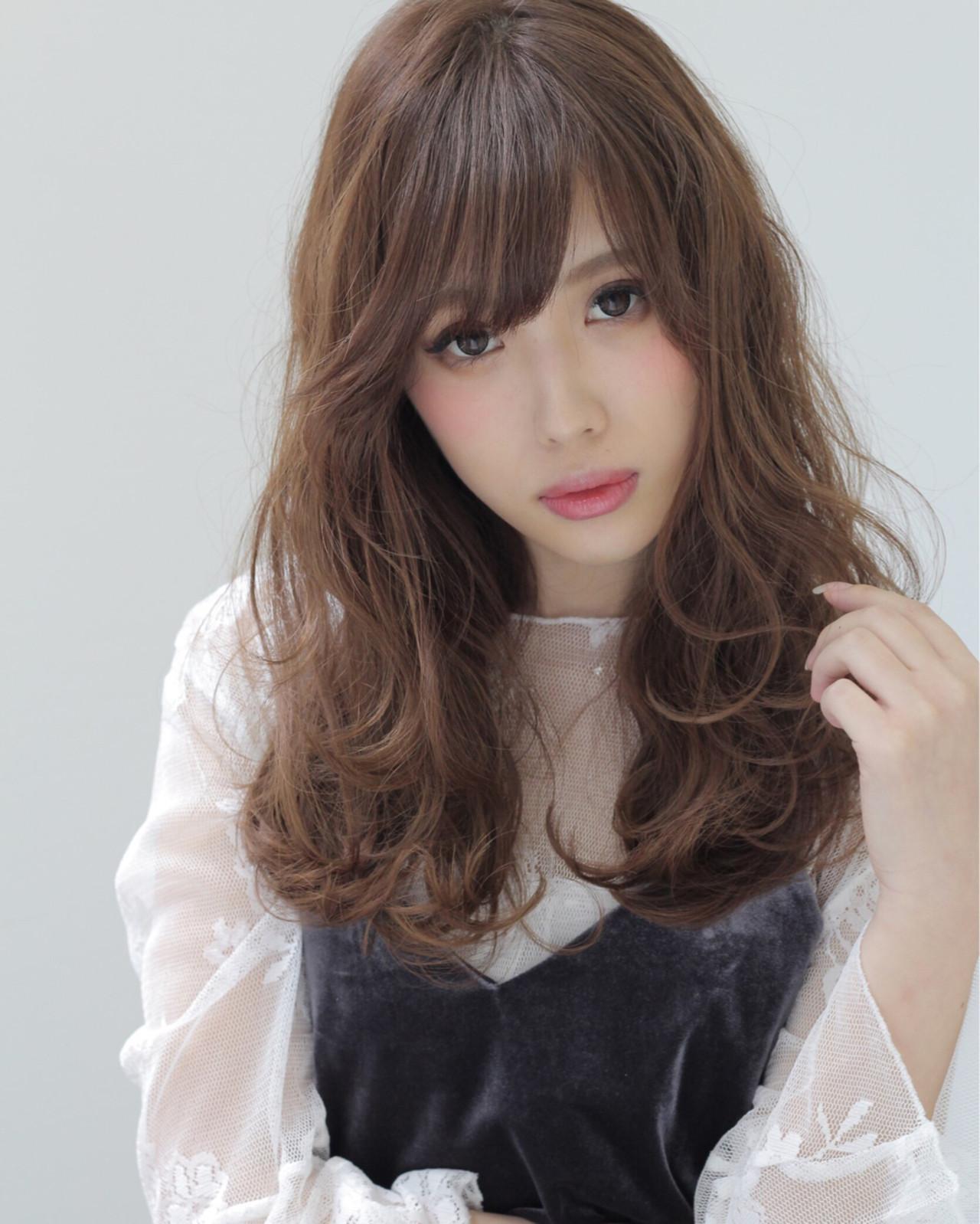 ミディアム ゆるふわ 外国人風 パーマ ヘアスタイルや髪型の写真・画像 | 石田 学史 / DISHEL