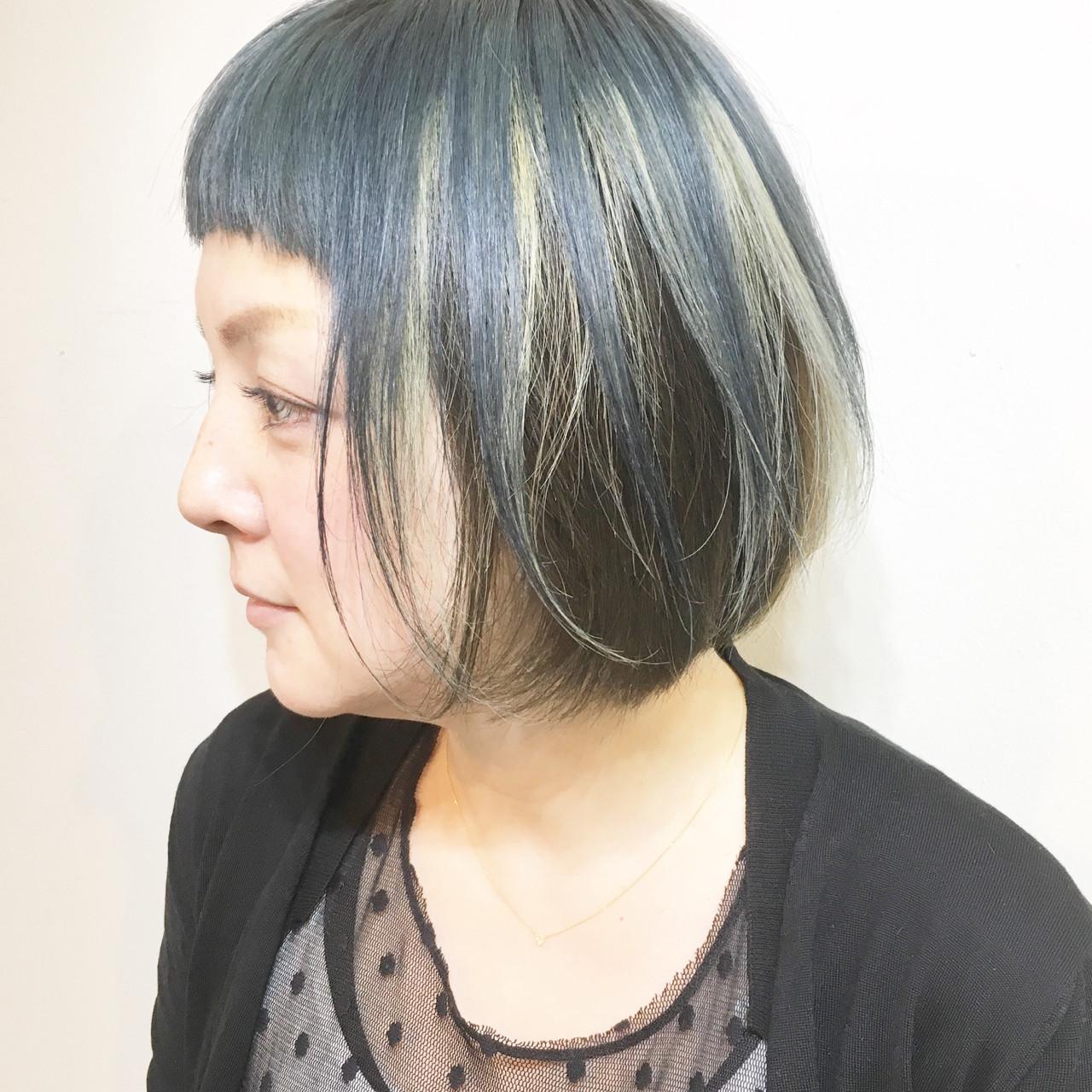 色気 マッシュ ボブ アッシュヘアスタイルや髪型の写真・画像