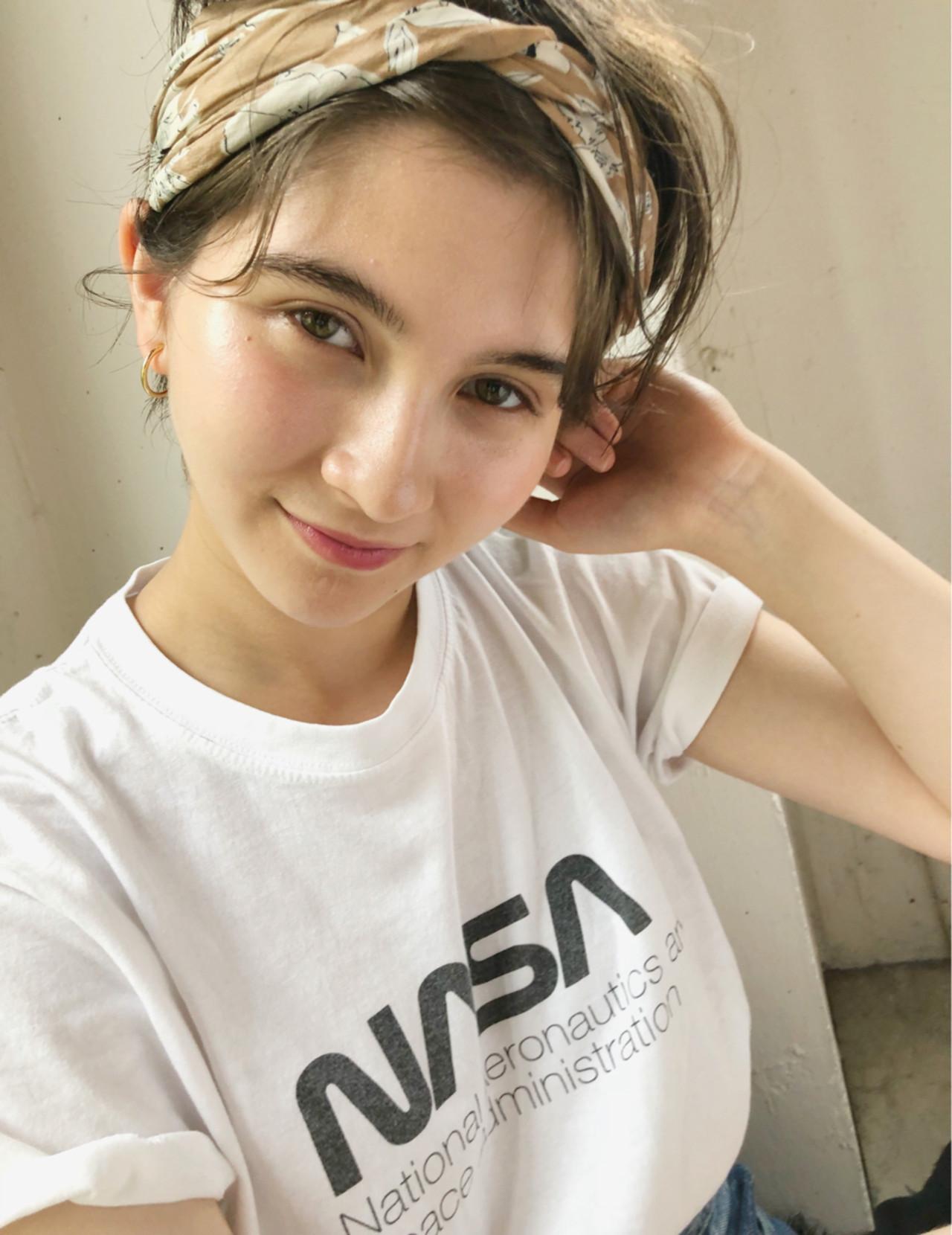 夏 ガーリー ヘアアレンジ スポーツ ヘアスタイルや髪型の写真・画像 | 中島 潮里 / whyte / whyte