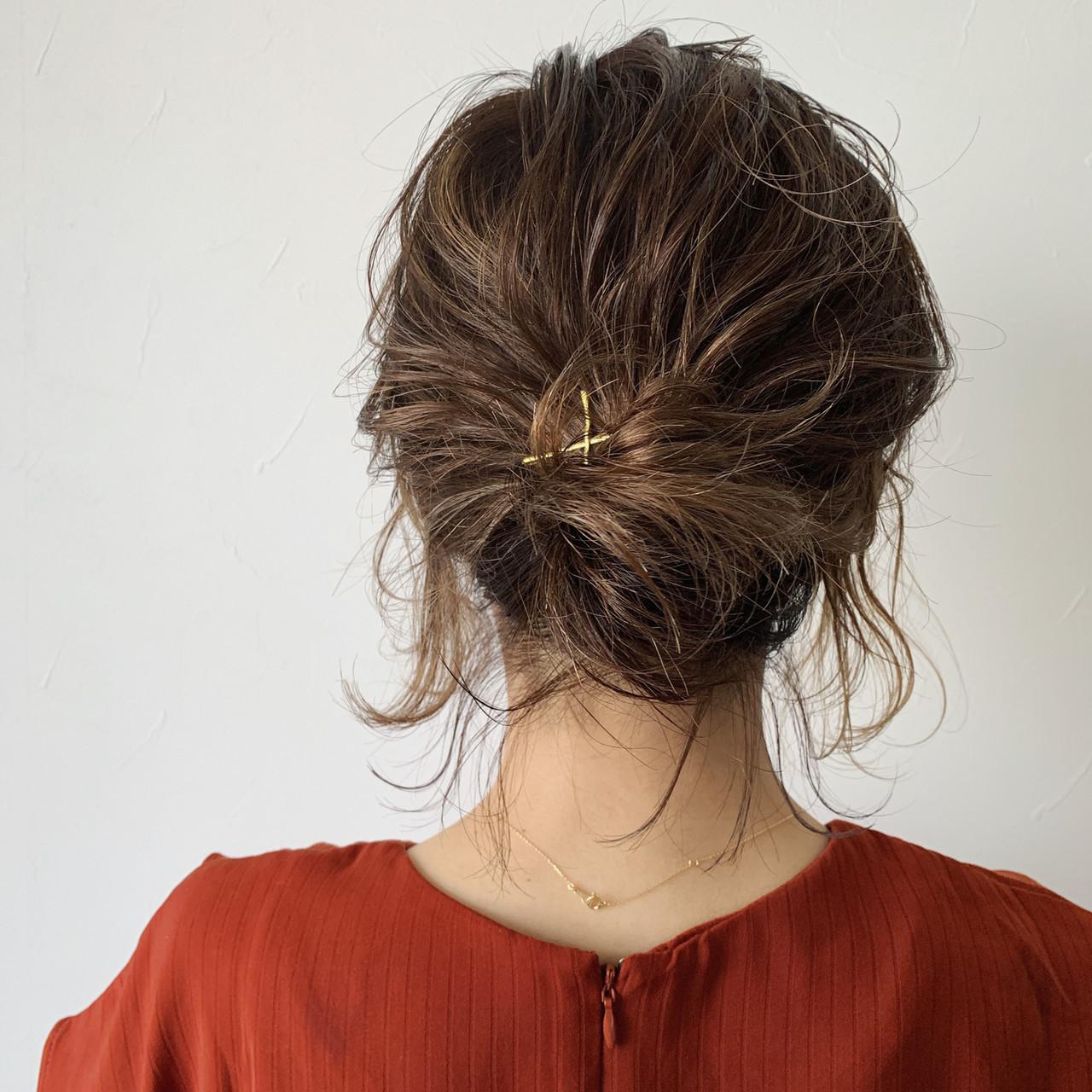 ナチュラル ヘアアレンジ ボブ デートヘアスタイルや髪型の写真・画像