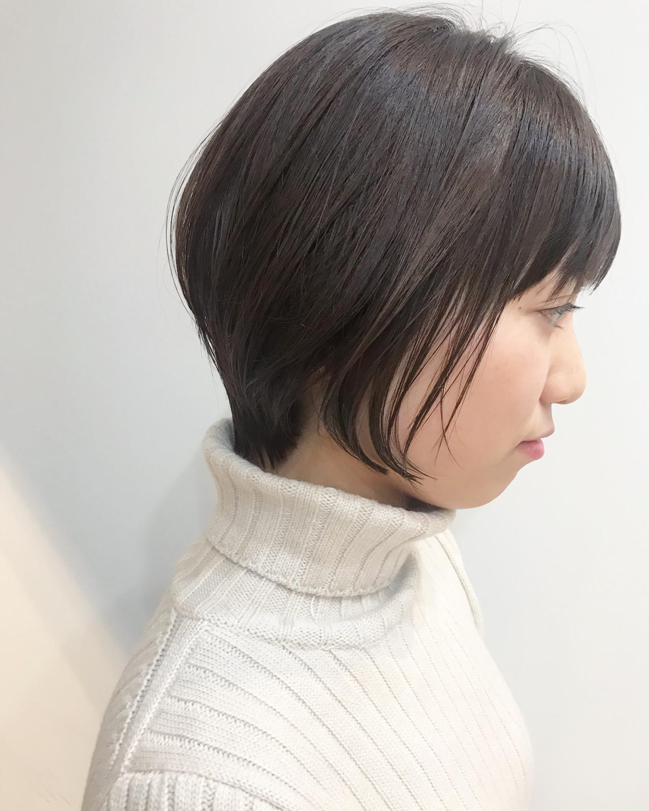 ナチュラル ショート 小顔ショート デート ヘアスタイルや髪型の写真・画像 | 大人可愛い【ショート・ボブが得意】つばさ / VIE