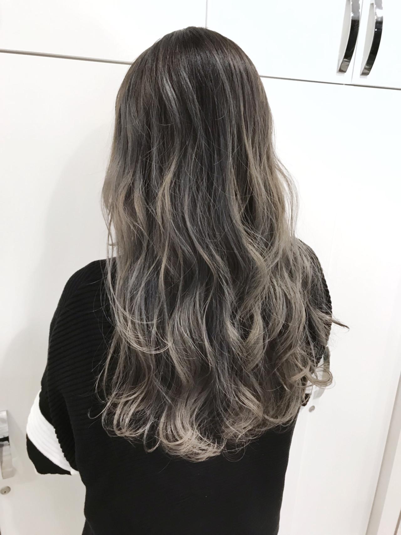 バレイヤージュ 外国人風 ストリート ハイライト ヘアスタイルや髪型の写真・画像 | 長谷川 龍太 / hair design tea