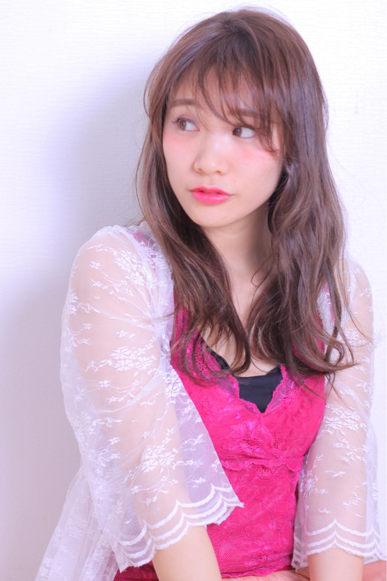 抜け感 モテ髪 フェミニン かわいい ヘアスタイルや髪型の写真・画像 | Masayuki Seto / PROS:旭商店街店