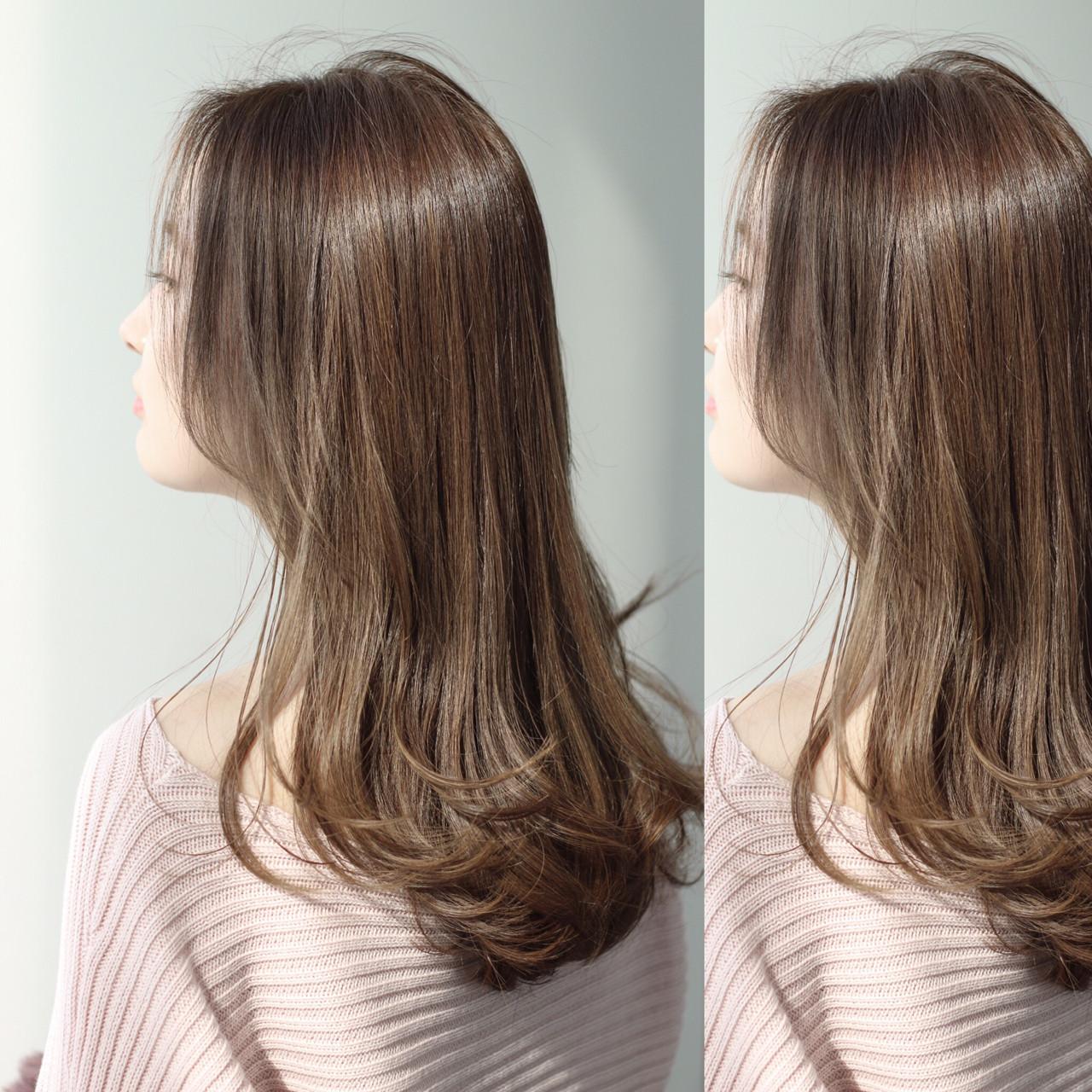 アッシュグレージュ グレージュ ロング アッシュ ヘアスタイルや髪型の写真・画像 | ZACC vie 宮森貴志 / ZACC vie