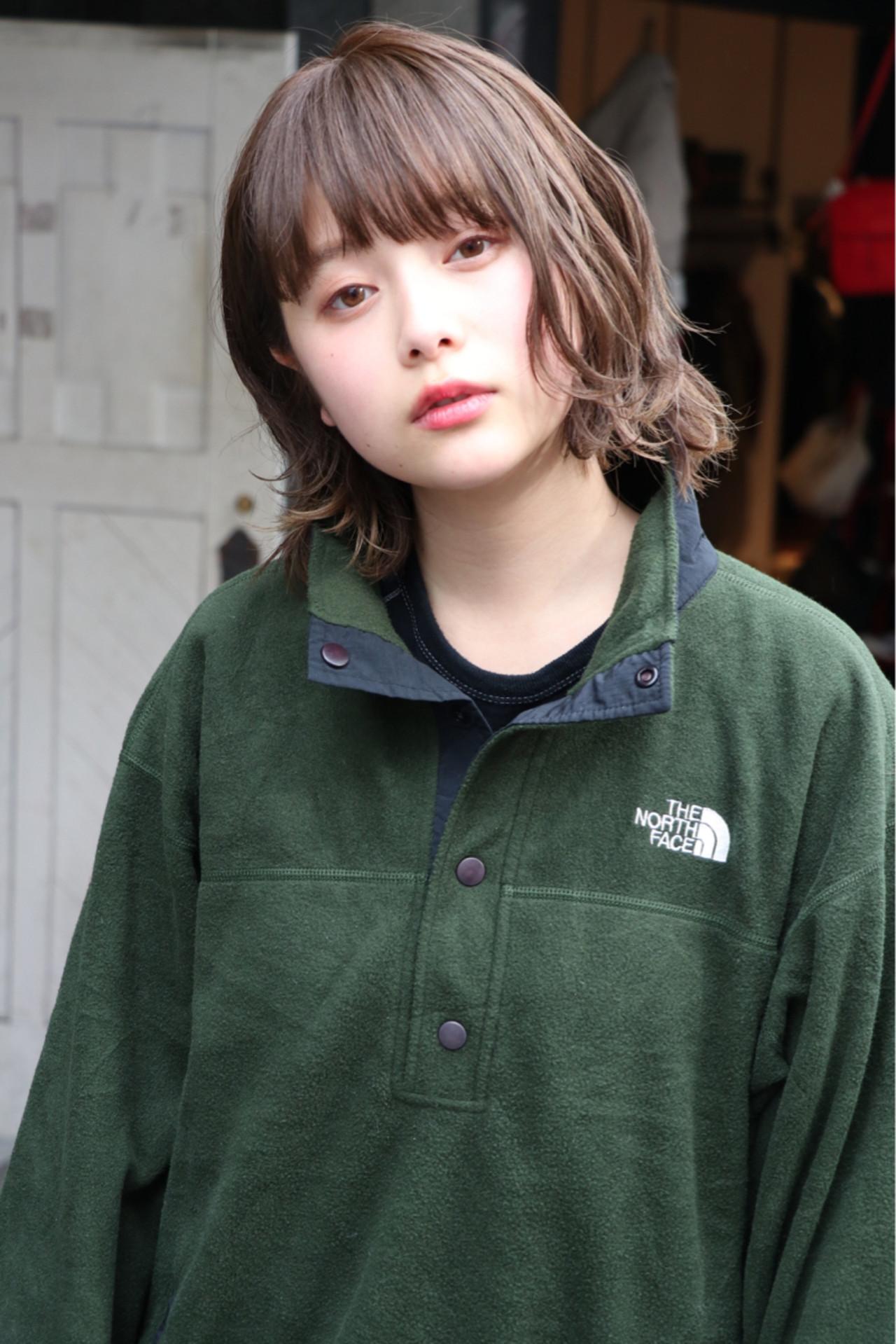 ボブ 謝恩会 アウトドア スポーツヘアスタイルや髪型の写真・画像