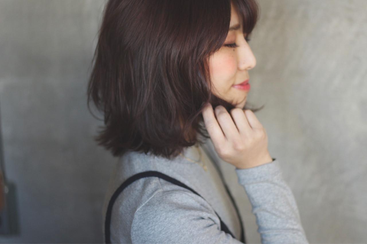 春 ベリーピンク 大人女子 ボブ ヘアスタイルや髪型の写真・画像 | Ayaco / One day