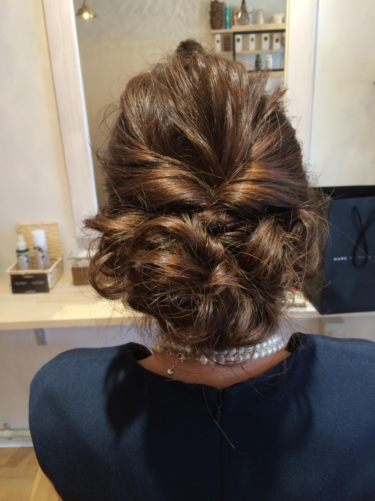 簡単ヘアアレンジ セミロング ナチュラル ゆるふわ ヘアスタイルや髪型の写真・画像 | 出水孝典 / Hair's Lotti