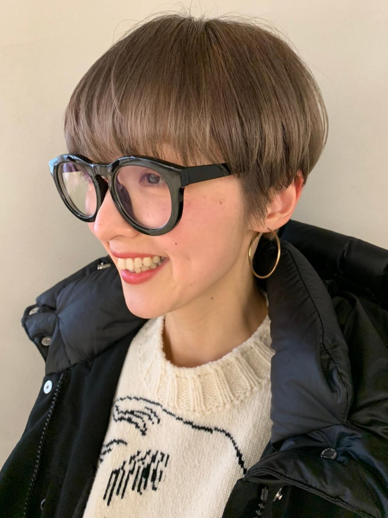 ベリーショート ショート ショートボブ ナチュラル ヘアスタイルや髪型の写真・画像 | 高橋 忍 / nanuk渋谷店(ナヌーク)