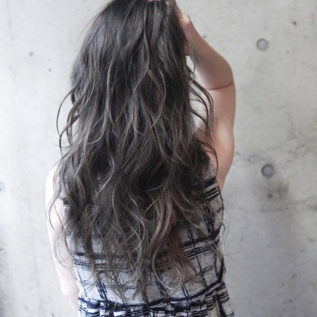 ロング ブラウン 外国人風 ストリート ヘアスタイルや髪型の写真・画像 | 内田 一也 / hair/nail space a:le