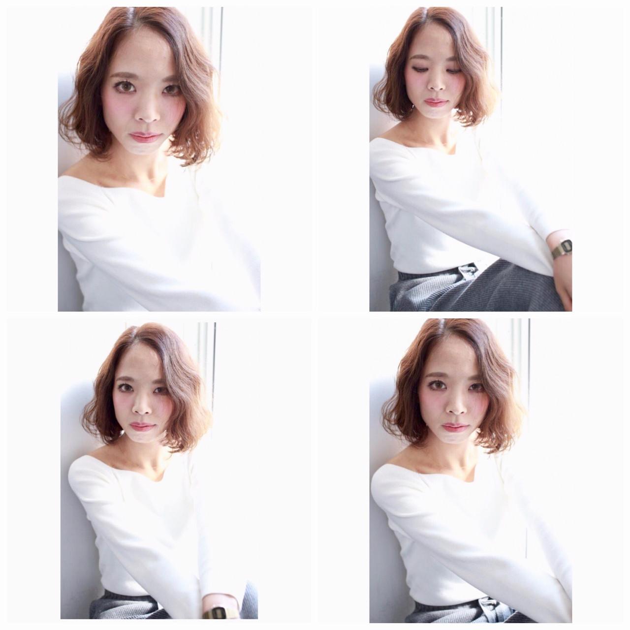 色気 ミルクティー ナチュラル ボブ ヘアスタイルや髪型の写真・画像 | Yumi Hiramatsu / Sourire Imaizumi【スーリール イマイズミ】