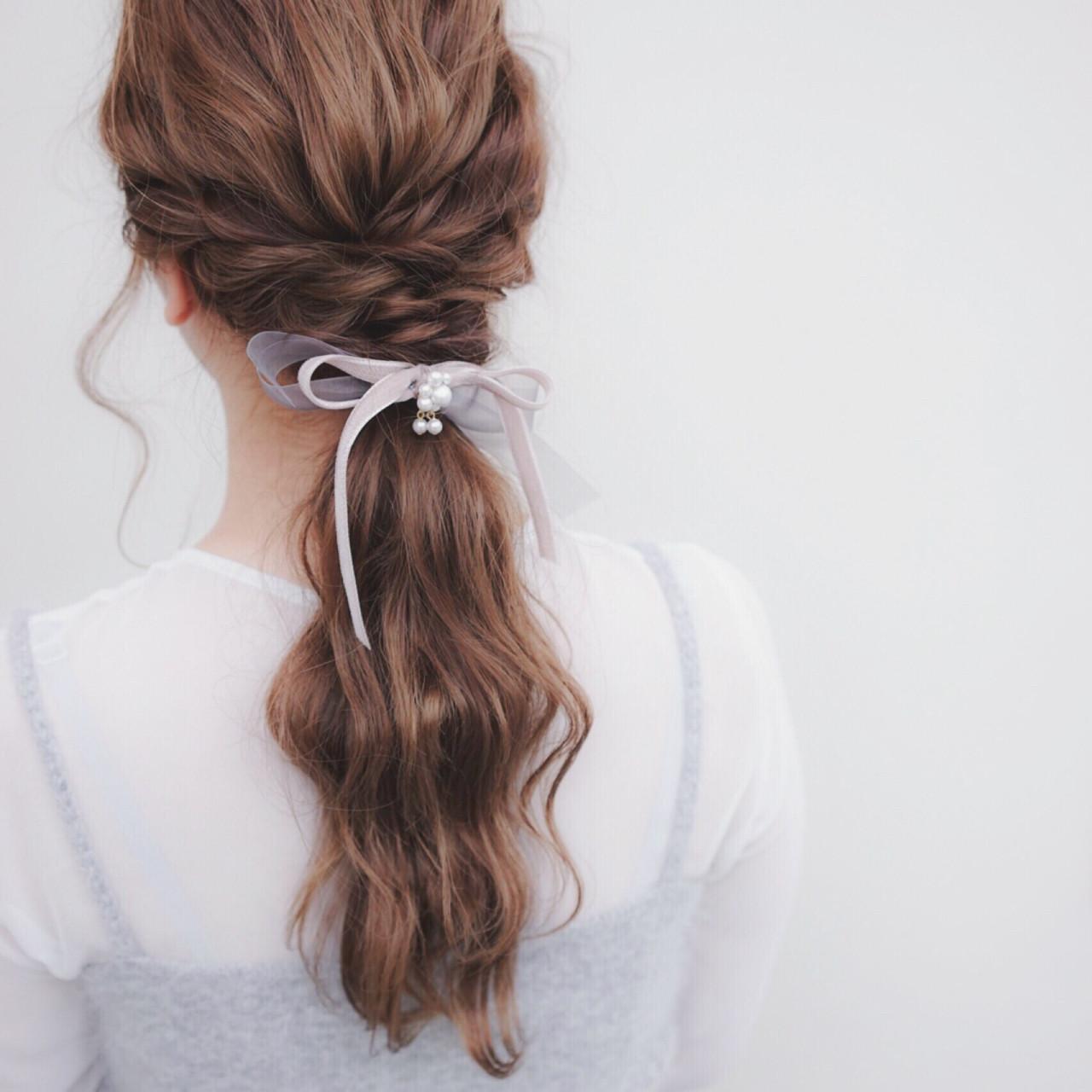 ポニーテール×スカーフで作る簡単可愛いヘアスタイル♡ 鈴木 貴仁